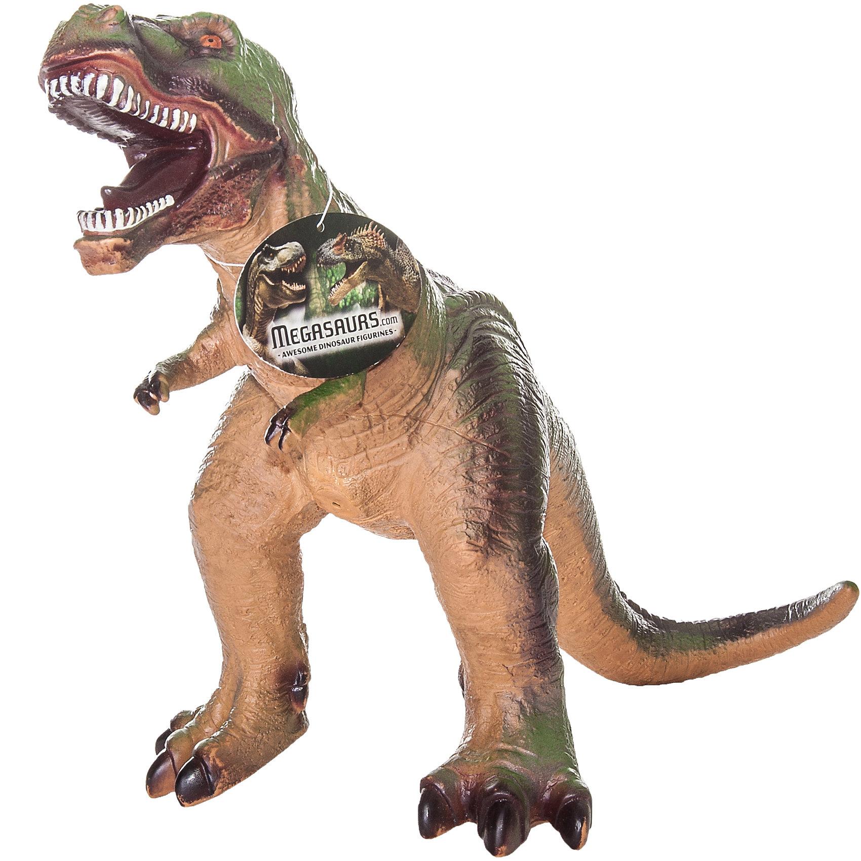 Фигурка динозавра Тираннозавр, HGLДинозавры и драконы<br>Детей всех возрастов привлекают фильмы и рассказы о доисторических временах и чудесных динозаврах, населявших Землю до возникновения человека. Подстегните фантазию юного любителя древностей - подарите ему динозавра из серии игрушек HGL. Специалисты компании создавали игрушки максимально похожими на своих прародителей, поэтому динозавры HGL такие интересные. Тираннозавр - фигурка огромного доисторического ящера. Он достигал в длину 12 метров, обладал огромной челюстью и по мнению ученых, питался другими динозаврами. Тираннозавр был очень быстрым, благодаря тому, что легко передвигался на задних мощных лапах. Он был одним из самых опасных хищников, населявших Землю более 65 миллионов лет тому назад. Ни одна история об эре динозавров невозможна без этого одинокого хищника. Ребенок будет в восторге от такого замечательного подарка. Массивный динозавр сделан из мягкого ПВХ безопасного для ребенка. Внушительные размеры и отличная детализация Тираннозавра помогут ребенку окунуться в далекий и такой манящий доисторический мир, полный приключений.<br><br>Дополнительная информация:<br><br>- Внешний вид фигурки основан на реальных данных палеонтологов;<br>- Материал: ПВХ;<br>- Размер фигурки: 40 см;<br>- Размер упаковки: 30 х 26 х 14 см;<br>- Вес: 750 г<br><br>Фигурку динозавра Тираннозавр, HGL можно купить в нашем интернет-магазине.<br><br>Ширина мм: 300<br>Глубина мм: 260<br>Высота мм: 140<br>Вес г: 750<br>Возраст от месяцев: 36<br>Возраст до месяцев: 192<br>Пол: Унисекс<br>Возраст: Детский<br>SKU: 4135945