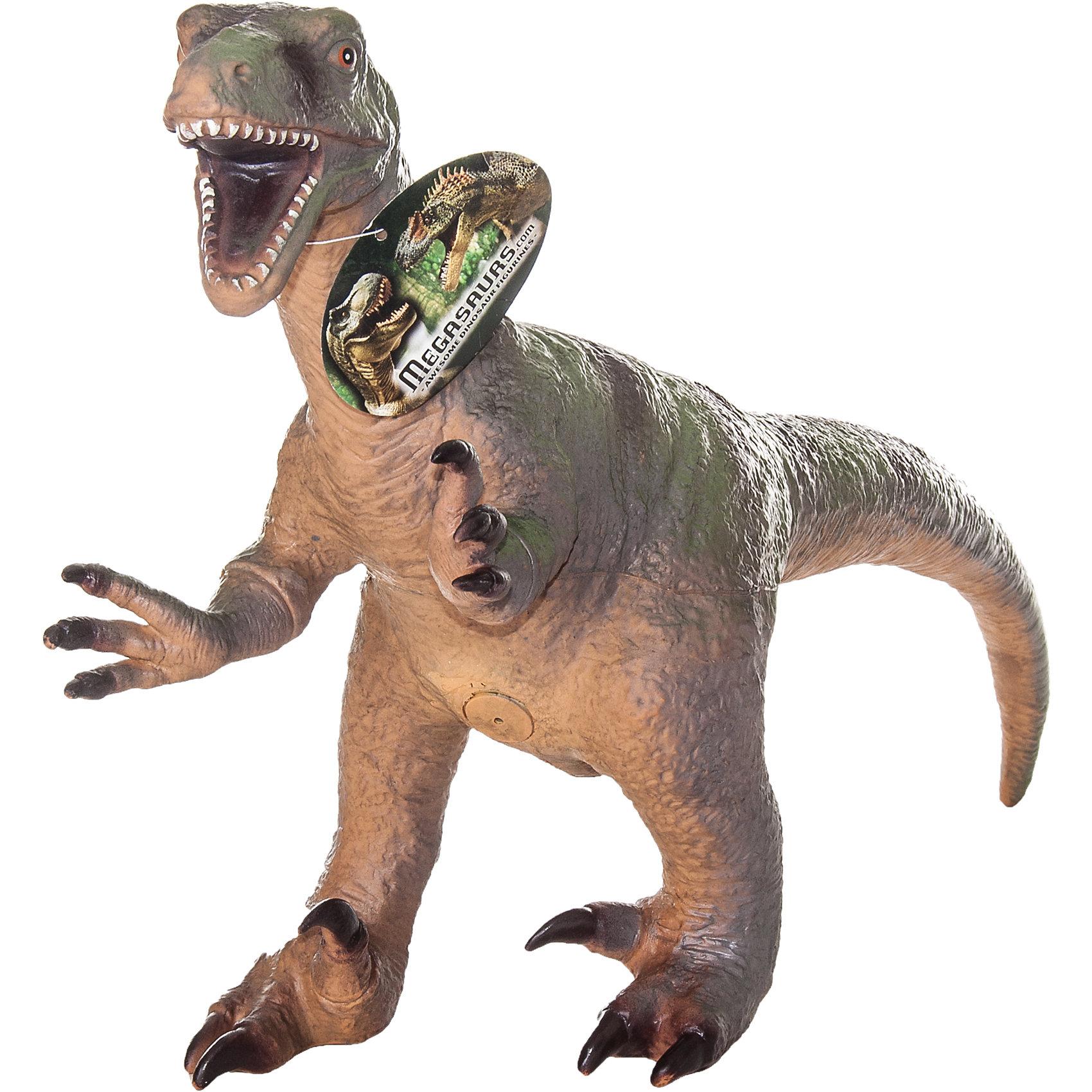 Фигурка динозавра Велоцираптор, HGLДраконы и динозавры<br>Детей всех возрастов привлекают фильмы и рассказы о доисторических временах и чудесных динозаврах, населявших Землю до возникновения человека. Подстегните фантазию юного любителя древностей - подарите ему динозавра из серии игрушек HGL. Специалисты компании создавали игрушки максимально похожими на своих прародителей, поэтому динозавры HGL такие интересные. Велоцираптор - фигурка небольшого доисторического ящера, обитавшего на Земле 70 миллионов лет тому назад. Это были животные достигавшие в длину 2 метров и передвигавшиеся на двух задних лапах. Велоцирапторы были частично покрыты перьями и несмотря на небольшой размер были очень опасны если собирались в стаи. Ни одна история об эре динозавров невозможна без этого необычного динозавра. Ребенок будет в восторге от такого замечательного подарка. Массивный динозавр сделан из мягкого ПВХ безопасного для ребенка. Внушительные размеры и отличная детализация Велоцираптора помогут ребенку окунуться в далекий и такой манящий доисторический мир, полный приключений.<br><br>Дополнительная информация:<br><br>- Внешний вид фигурки основан на реальных данных палеонтологов;<br>- Материал: ПВХ;<br>- Размер фигурки: 40 см;<br>- Размер упаковки: 47 х 32 х 15 см;<br>- Вес: 750 г<br><br>Фигурку динозавра Велоцираптор, HGL можно купить в нашем интернет-магазине.<br><br>Ширина мм: 470<br>Глубина мм: 320<br>Высота мм: 150<br>Вес г: 750<br>Возраст от месяцев: 36<br>Возраст до месяцев: 192<br>Пол: Унисекс<br>Возраст: Детский<br>SKU: 4135947