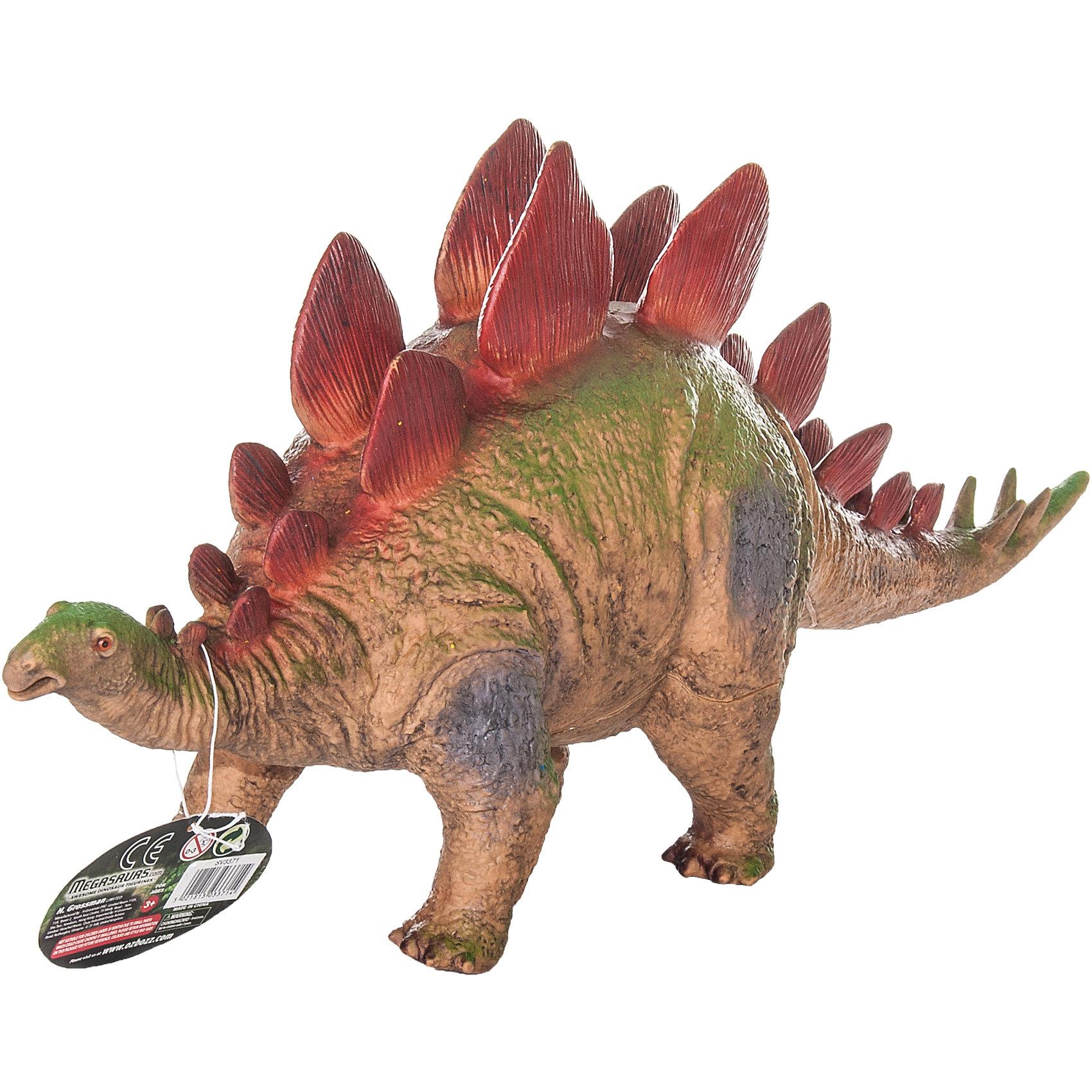 Фигурка динозавра Стегозавр, HGLДраконы и динозавры<br>Детей всех возрастов привлекают фильмы и рассказы о доисторических временах и чудесных динозаврах, населявших Землю до возникновения человека. Подстегните фантазию юного любителя древностей - подарите ему динозавра из серии игрушек HGL. Специалисты компании создавали игрушки максимально похожими на своих прародителей, поэтому динозавры HGL такие интересные. Стегозавр - фигурка травоядного доисторического ящера огромных размеров. Он достигал 9 метров в длину и 4 метров в высоту. Стегозавр передвигался на четырех лапах, а спина его была покрыта массивными костными отростками, которые делали его еще крупнее и устрашали хищников. Ни одна история об эре динозавров невозможна без этого необычного динозавра. Ребенок будет в восторге от такого замечательного подарка. Массивный динозавр сделан из мягкого ПВХ безопасного для детей. Внушительные размеры и отличная детализация Стегозавра помогут ребенку окунуться в далекий и такой манящий доисторический мир, полный приключений.<br><br>Дополнительная информация:<br><br>- Внешний вид фигурки основан на реальных данных палеонтологов;<br>- Материал: ПВХ;<br>- Размер фигурки: 40 см;<br>- Размер упаковки: 45 х 17,5 х 15 см;<br>- Вес: 750 г<br><br>Фигурку динозавра Стегозавр, HGL можно купить в нашем интернет-магазине.<br><br>Ширина мм: 450<br>Глубина мм: 175<br>Высота мм: 150<br>Вес г: 750<br>Возраст от месяцев: 36<br>Возраст до месяцев: 192<br>Пол: Унисекс<br>Возраст: Детский<br>SKU: 4135948