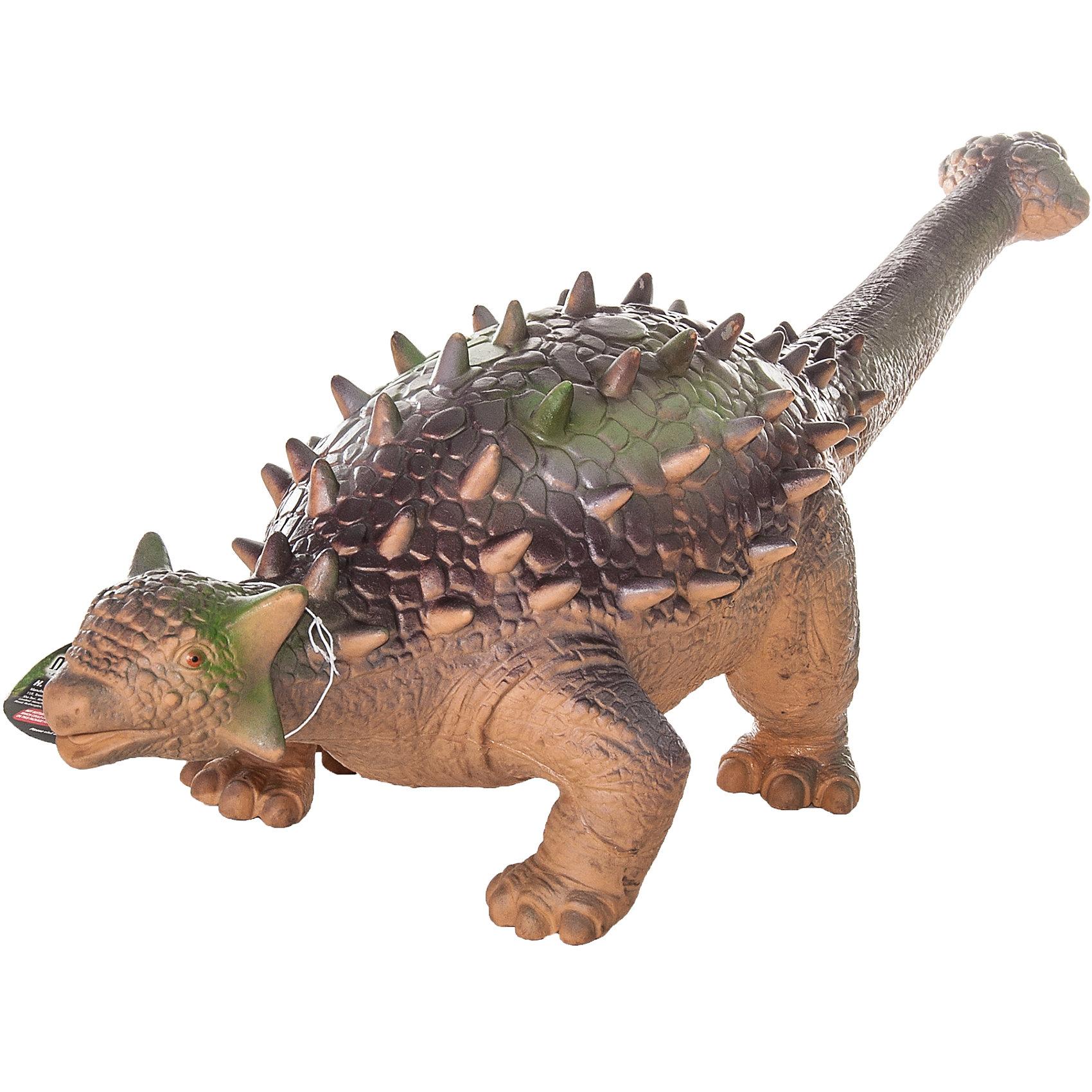 Фигурка динозавра Эвоплоцефал, HGLДетей всех возрастов привлекают фильмы и рассказы о доисторических временах и чудесных динозаврах, населявших Землю до возникновения человека. Подстегните фантазию юного любителя древностей - подарите ему динозавра из серии игрушек HGL. Специалисты компании создавали игрушки максимально похожими на своих прародителей, поэтому динозавры HGL такие интересные. Эвоплоцефал - фигурка травоядного доисторического ящера, обитавшего на Земле около 70 миллионов лет назад. Он достигал 5 метров в длину и 2 метров в высоту. Эвоплоцефал передвигался на четырех лапах, а спина его была покрыта массивными костными пластинами, которые делали его неуязвимым. Ни одна история об эре динозавров невозможна без этого необычного динозавра. Ребенок будет в восторге от такого замечательного подарка. Массивный динозавр сделан из мягкого ПВХ безопасного для детей. Внушительные размеры и отличная детализация Эвоплоцефала помогут ребенку окунуться в далекий и такой манящий доисторический мир, полный приключений.<br><br>Дополнительная информация:<br><br>- Внешний вид фигурки основан на реальных данных палеонтологов;<br>- Материал: ПВХ;<br>- Размер фигурки: 40 см;<br>- Размер упаковки: 52 х 16 х 15 см;<br>- Вес: 750 г<br><br>Фигурку динозавра Эвоплоцефал, HGL можно купить в нашем интернет-магазине.<br><br>Ширина мм: 520<br>Глубина мм: 160<br>Высота мм: 150<br>Вес г: 750<br>Возраст от месяцев: 36<br>Возраст до месяцев: 192<br>Пол: Унисекс<br>Возраст: Детский<br>SKU: 4135949