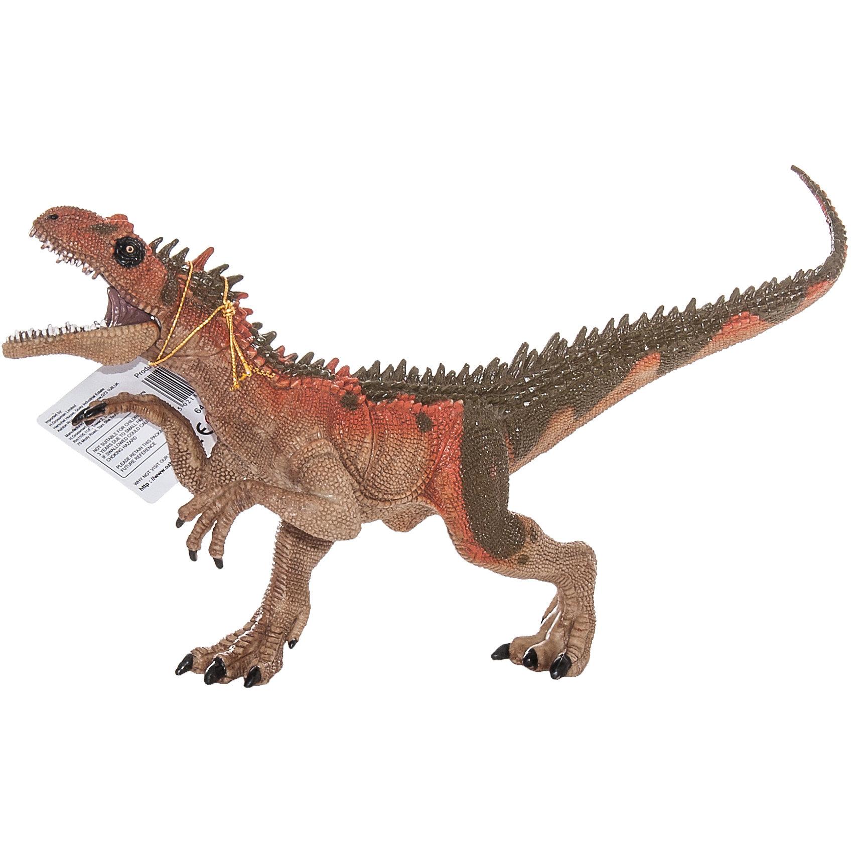 Фигурка динозавра  с двигающейся пастью, HGL, в ассортиментеДетей всех возрастов привлекают фильмы и рассказы о доисторических временах и чудесных динозаврах, населявших Землю до возникновения человека. Подстегните фантазию юного любителя древностей - подарите ему динозавра из серии игрушек HGL. Специалисты компании создавали игрушки максимально похожими на своих прародителей, поэтому динозавры HGL такие интересные. Игрушка от HGL - фигурка огромного доисторического ящера. Он передвигался на мощных задних лапах. Ребенок легко сможет воспроизвести сцену охоты благодаря двигающейся пасти динозавра. Пасть открывается, обнажая ряд огромных зубов. Ни одна история об эре динозавров невозможна без этого необычного динозавра. Ребенок будет в восторге от такого замечательного подарка. Массивный динозавр сделан из мягкого ПВХ безопасного для детей. Внушительные размеры и отличная детализация динозавра помогут ребенку окунуться в далекий и такой манящий доисторический мир, полный приключений.<br><br>Дополнительная информация:<br><br>- Внешний вид фигурки основан на реальных данных палеонтологов;<br>- Материал: ПВХ;<br>- Размер фигурки: 28 см;<br>- Размер упаковки: 29 х 11 х 5 см;<br>- Вес: 117 г<br><br>ВНИМАНИЕ! Данный товар представлен в ассортименте (динозавры отличаются по цвету). К сожалению, предварительный выбор невозможен. При заказе нескольких единиц данного товара возможно получение одинаковых.<br><br>Фигурку динозавра  с двигающейся пастью, HGL, в ассортименте можно купить в нашем интернет-магазине.<br><br>Ширина мм: 290<br>Глубина мм: 110<br>Высота мм: 50<br>Вес г: 117<br>Возраст от месяцев: 36<br>Возраст до месяцев: 192<br>Пол: Унисекс<br>Возраст: Детский<br>SKU: 4135954