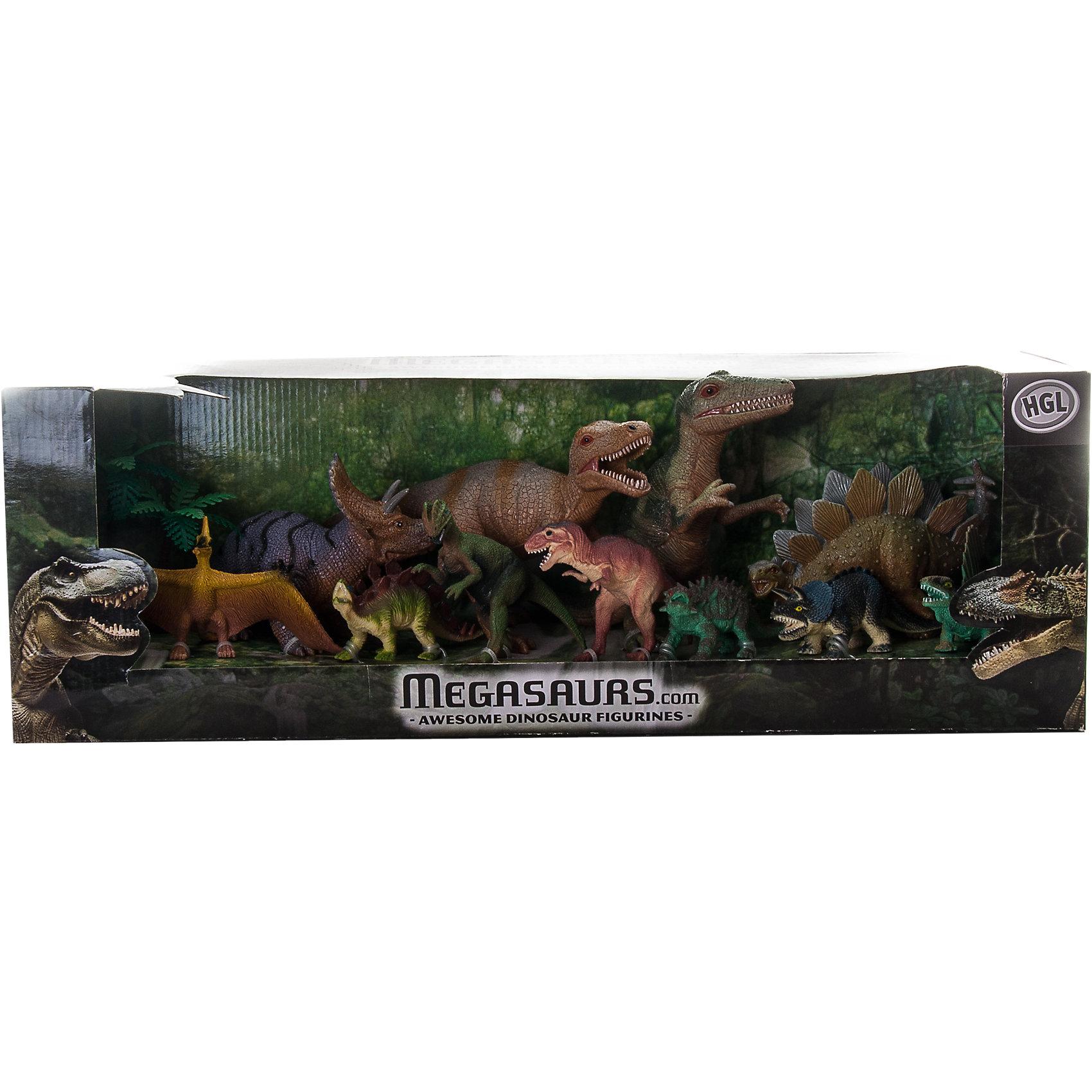 Игровой набор динозавров, 12 шт, HGL, в ассортиментеДинозавры и драконы<br>Детей всех возрастов привлекают фильмы и рассказы о доисторических временах и чудесных динозаврах, населявших Землю до возникновения человека. Подстегните фантазию юного любителя древностей - подарите ему динозавра из серии игрушек HGL. Специалисты компании создавали игрушки максимально похожими на своих прародителей, поэтому динозавры HGL такие интересные. Динозавры от HGL - замечательный масштабный игровой набор состоящий из двенадцати фигурок ящеров, существовавших на Земле много миллионов лет назад. Среди них яркие представители изученных видов динозавров: свирепые хищники и травоядные. Особенный интерес представляет тот факт, что все динозавры выполнены в масштабе, поэтому ребенок сможет наглядно представить каких размеров был каждый вид динозавра по сравнению с другим. Ребенку обязательно захочется узнать все о повадках и образе жизни каждого ящера. А применить эти знания можно разыгрывая истории с замечательным набором от HGL. Ребенок будет в восторге от такого замечательного подарка. Массивные динозавры сделаны из мягкого ПВХ безопасного для детей. Внушительные размеры и отличная детализация динозавров помогут ребенку окунуться в далекий и такой манящий доисторический мир, полный приключений.<br><br>Дополнительная информация:<br><br>- Внешний вид фигурок основан на реальных данных палеонтологов;<br>- Материал: ПВХ;<br>- Размер упаковки: 16,5 х 16,5 х 53,5 см;<br>- Вес: 1,2 кг<br><br>ВНИМАНИЕ! Данный товар представлен в ассортименте. К сожалению, предварительный выбор невозможен. При заказе нескольких единиц данного товара возможно получение одинаковых.<br><br>Игровой набор динозавров, 12 шт HGL в ассортименте можно купить в нашем интернет-магазине.<br><br>Ширина мм: 165<br>Глубина мм: 165<br>Высота мм: 535<br>Вес г: 1200<br>Возраст от месяцев: 36<br>Возраст до месяцев: 192<br>Пол: Унисекс<br>Возраст: Детский<br>SKU: 4135957