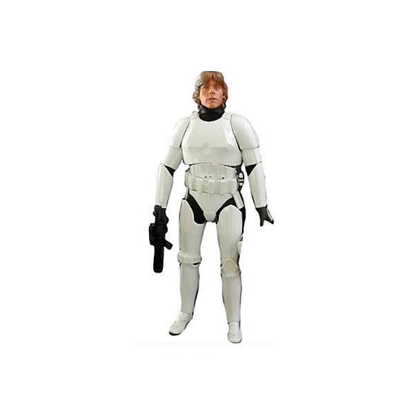 Фигура Скайуокер в броне штурмовика, 79 см, Звездные Войны, Big FiguresКоллекционные фигурки<br>Скайвокер в броне штурмовика из серии Big Figures – главный герой и ключевая фигура киносаги Джорджа Лукаса «Звездные Войны (Star Wars)». В течение всей киноэпопеи можно наблюдать становление персонажа в качестве проводника Силы, переход его на сторону Темной стороны Силы и его искупление в конце. После перехода на сторону Темной Силы принял имя Дарта Вайдера, чья фигура также присутствует в коллекции Big Figures в разном исполнении. <br><br>Обратите внимание, что рост игрушки составляет практически 80 см, что ограничивает минимальный возраст игры с ней. Хан Соло может поворачивать голову, двигать руками и ногами, что позволяет принимать различные позы во время игры. Сама фигура сделана из высокопрочного пластика и покрыта безопасными для детей красками. В виде аксессуара к фигурке прилагается оружие, которое, при желании, можно вынимать и вкладывать в кисть куклы.<br><br>Дополнительная информация:<br><br>В набор входит:<br>Большая фигура Скайвокер высотой 79 см<br>Оружие<br><br>Фигуру Скайуокер в броне штурмовика, 79 см, Звездные Войны (Star Wars), Big Figures можно купить в нашем магазине.<br>Ширина мм: 330; Глубина мм: 800; Высота мм: 155; Вес г: 1760; Возраст от месяцев: 36; Возраст до месяцев: 1188; Пол: Мужской; Возраст: Детский; SKU: 4135959;