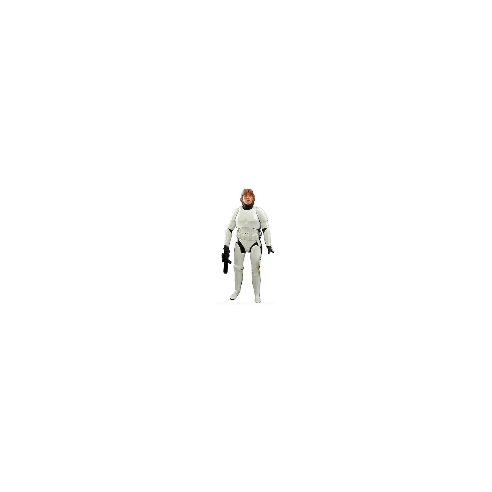 Фигура Скайуокер в броне штурмовика, 79 см, Звездные Войны, Big FiguresЛюбимые герои<br>Скайвокер в броне штурмовика из серии Big Figures – главный герой и ключевая фигура киносаги Джорджа Лукаса «Звездные Войны (Star Wars)». В течение всей киноэпопеи можно наблюдать становление персонажа в качестве проводника Силы, переход его на сторону Темной стороны Силы и его искупление в конце. После перехода на сторону Темной Силы принял имя Дарта Вайдера, чья фигура также присутствует в коллекции Big Figures в разном исполнении. <br><br>Обратите внимание, что рост игрушки составляет практически 80 см, что ограничивает минимальный возраст игры с ней. Хан Соло может поворачивать голову, двигать руками и ногами, что позволяет принимать различные позы во время игры. Сама фигура сделана из высокопрочного пластика и покрыта безопасными для детей красками. В виде аксессуара к фигурке прилагается оружие, которое, при желании, можно вынимать и вкладывать в кисть куклы.<br><br>Дополнительная информация:<br><br>В набор входит:<br>Большая фигура Скайвокер высотой 79 см<br>Оружие<br><br>Фигуру Скайуокер в броне штурмовика, 79 см, Звездные Войны (Star Wars), Big Figures можно купить в нашем магазине.<br><br>Ширина мм: 330<br>Глубина мм: 800<br>Высота мм: 155<br>Вес г: 1760<br>Возраст от месяцев: 36<br>Возраст до месяцев: 1188<br>Пол: Мужской<br>Возраст: Детский<br>SKU: 4135959