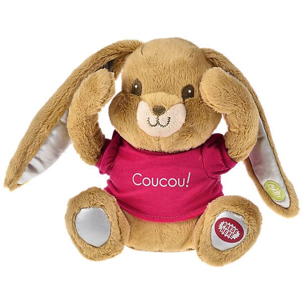 Интерактивная игрушка Кролик, PiouPiouИнтерактивные мягкие игрушки<br>С интерактивной плюшевой игрушкой Кролик от PiouPiou малыш сможет поиграть в самую первую свою игру - Ку-ку. При нажатии на пятку  кролика,  он открывает  лапками глаза  и  начинает смеяться, играя с ребенком в прятки. <br>Игрушка способствует развитию мелкой моторики, цветового и тактильного восприятия. Игрушка предназначена для самых маленьких, как правило малыши начинают проявлять интерес к подобного рода пряткам с первых месяцев жизни и не могут осуществлять самостоятельный поиск. <br><br>Дополнительная информация:<br><br>Высота: 20 см<br>Батарейки входят в комплект (2 шт.  типа АА).<br><br>Интерактивную игрушку Кролик, PiouPiou можно купить в нашем магазине.<br><br>Ширина мм: 150<br>Глубина мм: 130<br>Высота мм: 160<br>Вес г: 800<br>Возраст от месяцев: 10<br>Возраст до месяцев: 84<br>Пол: Унисекс<br>Возраст: Детский<br>SKU: 4138581