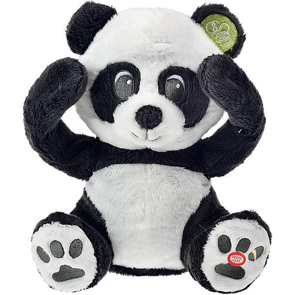Интерактивная игрушка Панда, PiouPiouИнтерактивные мягкие игрушки<br>С интерактивной плюшевой игрушкой Панда от PiouPiou малыш сможет поиграть в самую первую свою игру - Ку-ку. При нажатии на пятку  панды,  он открывает  лапками глаза  и  начинает смеяться, играя с ребенком в прятки. <br>Игрушка способствует развитию мелкой моторики, цветового и тактильного восприятия. Игрушка предназначена для самых маленьких, как правило малыши начинают проявлять интерес к подобного рода пряткам с первых месяцев жизни и не могут осуществлять самостоятельный поиск. <br><br>Дополнительная информация:<br><br>Высота: 20 см<br>Батарейки входят в комплект.<br><br>Интерактивную игрушку Панда, PiouPiou можно купить в нашем магазине.<br><br>Ширина мм: 150<br>Глубина мм: 130<br>Высота мм: 160<br>Вес г: 800<br>Возраст от месяцев: 10<br>Возраст до месяцев: 84<br>Пол: Унисекс<br>Возраст: Детский<br>SKU: 4138583
