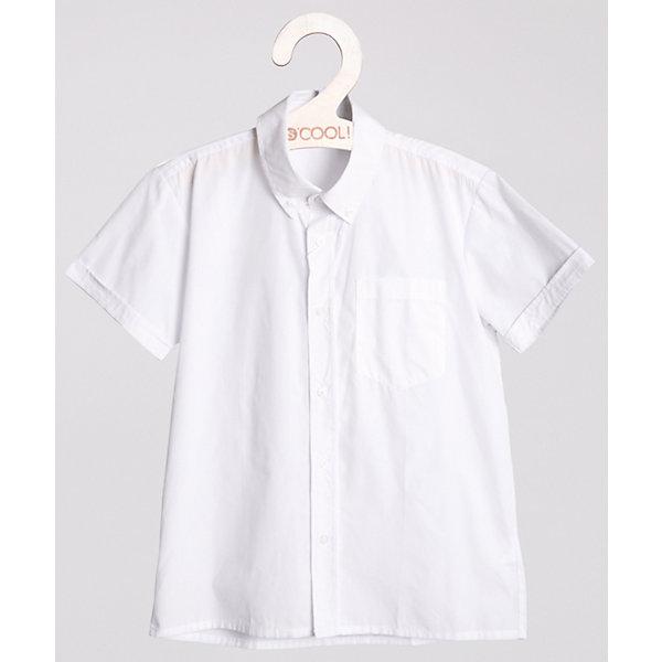 Рубашка для мальчика ScoolБлузки и рубашки<br>Рубашка для мальчика от известной марки Scool.<br>* стильная сорочка с коротким рукавом<br>* накладной карман на груди<br>* отложной воротник классической формы<br>* застежка - пуговицы<br>* манжеты на одной пуговице<br>Состав:<br>60% хлопок, 40% полиэстер<br><br>Ширина мм: 174<br>Глубина мм: 10<br>Высота мм: 169<br>Вес г: 157<br>Цвет: белый<br>Возраст от месяцев: 156<br>Возраст до месяцев: 168<br>Пол: Мужской<br>Возраст: Детский<br>Размер: 164,134,152,158,146,140,128<br>SKU: 4140557
