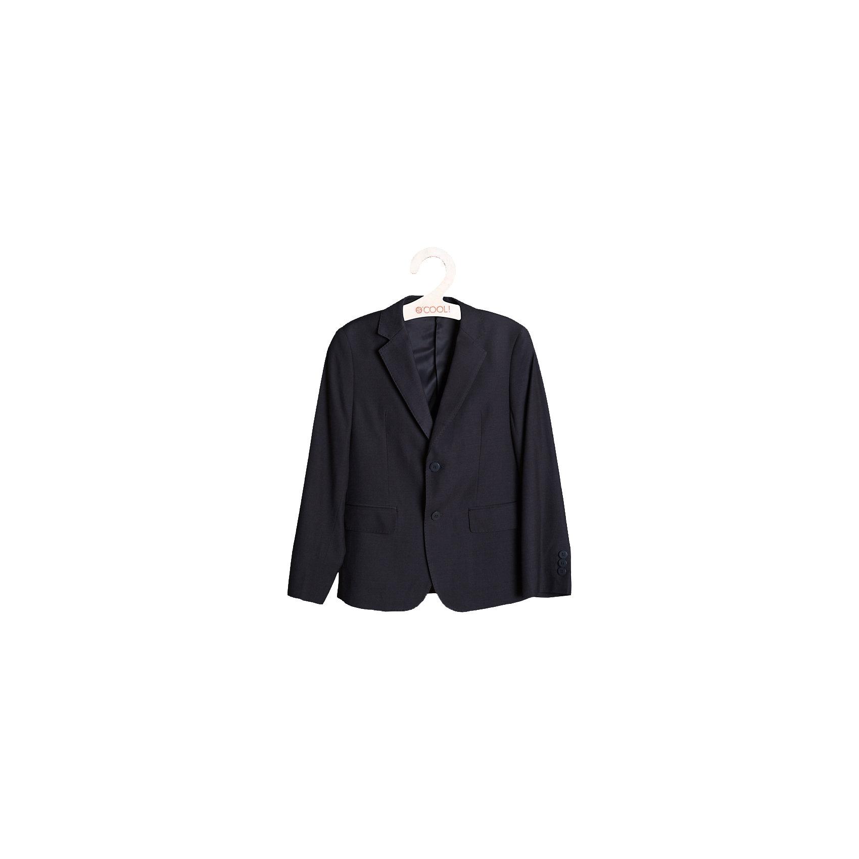 Пиджак для мальчика ScoolПиджаки и костюмы<br>Пиджак для мальчика от известной марки Scool.<br>* классический пиджак прямого кроя, выполненный из однотонного качественного материала<br> * отложной воротник с лацканом<br>* модель дополнена боковыми карманами с клапанами<br>* пиджак однобортный на двух пуговицах<br>* крой модели сохранил в себе все традиции производства классического пиджака<br>Состав:<br>Верх: 75% полиэстер, 35% вискоза, 8% шерсть,Подкладка: 65% полиэстер, 35% вискоза<br><br>Ширина мм: 356<br>Глубина мм: 10<br>Высота мм: 245<br>Вес г: 519<br>Цвет: серый<br>Возраст от месяцев: 144<br>Возраст до месяцев: 156<br>Пол: Мужской<br>Возраст: Детский<br>Размер: 158,164,134,152,140,128,146<br>SKU: 4140613