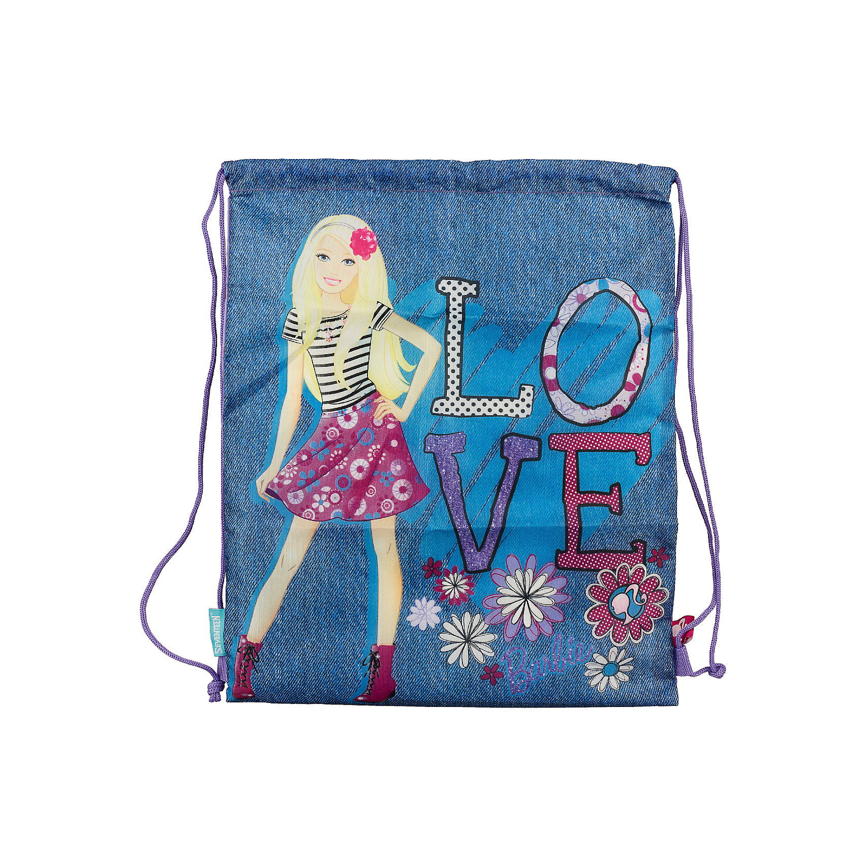 Сумка-рюкзак для обуви, BarbieСумку-рюкзак удобно использовать для хранения и переноски сменной обуви. Мешок выполнен из плотного материала. Он затягивается сверху при помощи текстильных шнурков, которые фиксируются в нижней части, благодаря чему его можно носить за спиной, как рюкзак.<br><br>Дополнительная информация:<br><br>Размер: 43 х 34 х 1 см.<br><br>Сумку-рюкзак для обуви, Barbie можно купить в нашем магазине.<br><br>Ширина мм: 430<br>Глубина мм: 340<br>Высота мм: 10<br>Вес г: 55<br>Возраст от месяцев: 96<br>Возраст до месяцев: 108<br>Пол: Женский<br>Возраст: Детский<br>SKU: 4140859