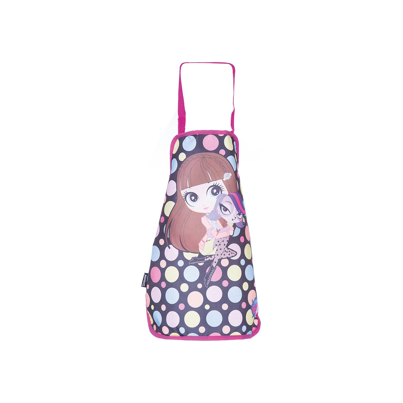 Фартук Littlest Pet ShopФартук для труда надежно защитит Вашего ребенка от различных пятен и загрязнений при занятиях творчеством. С фартуком ваш малыш сможет без опасений заниматься любимым делом. Он изготовлен из водостойкого материала. Его можно зафиксировать на талии и на шее с помощью специальных ремней. Ремень, предназначенный для фиксации на шее, имеет металлические приспособления для регулировки длины.<br><br>Дополнительная информация:<br><br>Размер: 51 х 44 см.<br>Размер упаковки: 27 х 16,5 х 0,5 см.<br>Фартук детский из водостойкого материала.<br><br>Фартук Littlest Pet Shop (Маленький зоомагазин) можно купить в нашем магазине.<br><br>Ширина мм: 270<br>Глубина мм: 165<br>Высота мм: 5<br>Вес г: 70<br>Возраст от месяцев: 48<br>Возраст до месяцев: 84<br>Пол: Женский<br>Возраст: Детский<br>SKU: 4140872