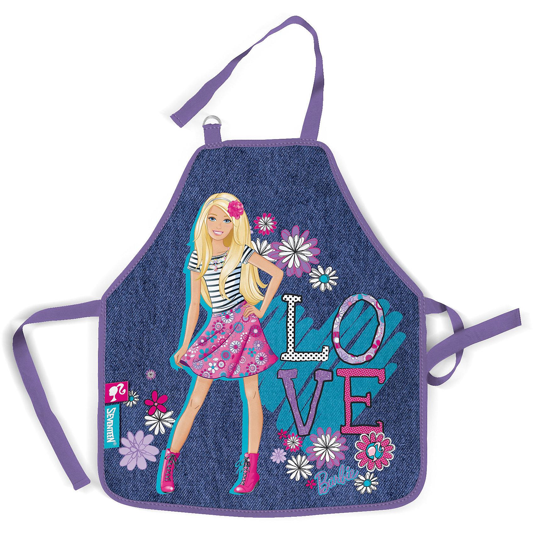 Фартук BarbieФартук для труда надежно защитит Вашего ребенка от различных пятен и загрязнений при занятиях творчеством. С фартуком ваш малыш сможет без опасений заниматься любимым делом. Он изготовлен из водостойкого материала. Его можно зафиксировать на талии и на шее с помощью специальных ремней. Ремень, предназначенный для фиксации на шее, имеет металлические приспособления для регулировки длины.<br><br>Дополнительная информация:<br><br>Фартук детский из водостойкого материала.<br>Размер фартука 51 х 44 см.<br>Размер упаковки 27 х 16,5 х 0,5 см.<br><br>Фартук Barbie (Барби) можно купить в нашем магазине.<br><br>Ширина мм: 270<br>Глубина мм: 165<br>Высота мм: 5<br>Вес г: 70<br>Возраст от месяцев: 96<br>Возраст до месяцев: 108<br>Пол: Женский<br>Возраст: Детский<br>SKU: 4140886
