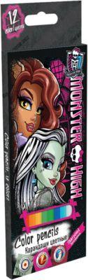 Академия групп Цветные карандаши Monster High 12 шт