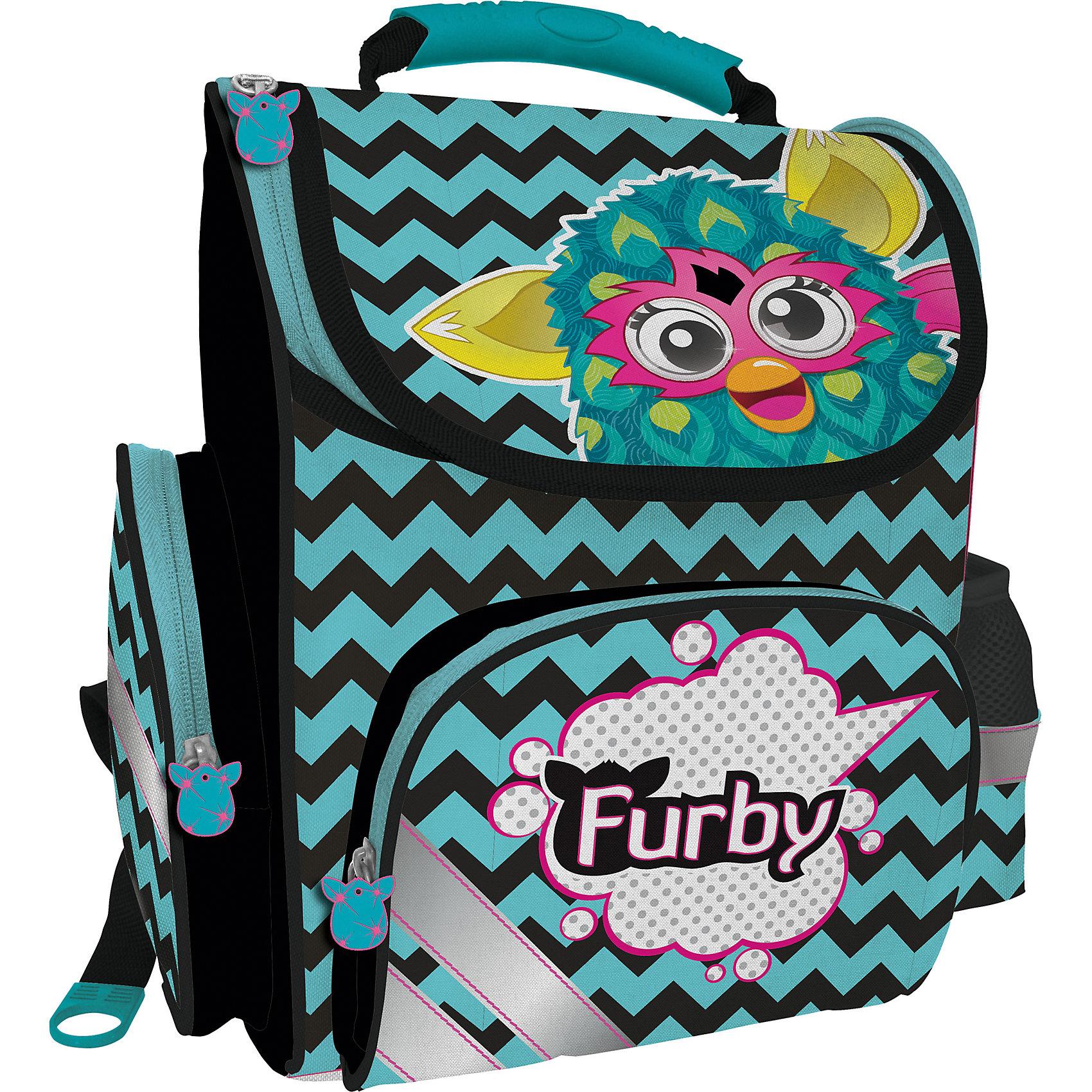 Академия групп Школьный ранец Furby с эргономической спинкой furby рюкзак 35 см в полоску 1toy