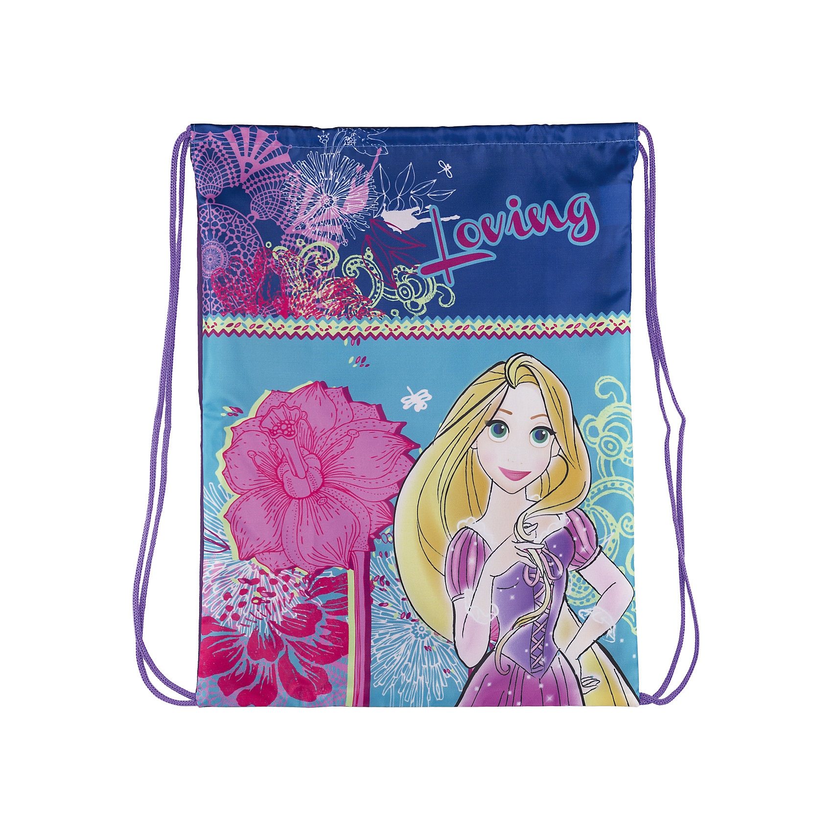 Академия групп Сумка-рюкзак для обуви Рапунцель, Принцессы Дисней карапуз кукла рапунцель со светящимся амулетом 37 см со звуком принцессы дисней карапуз