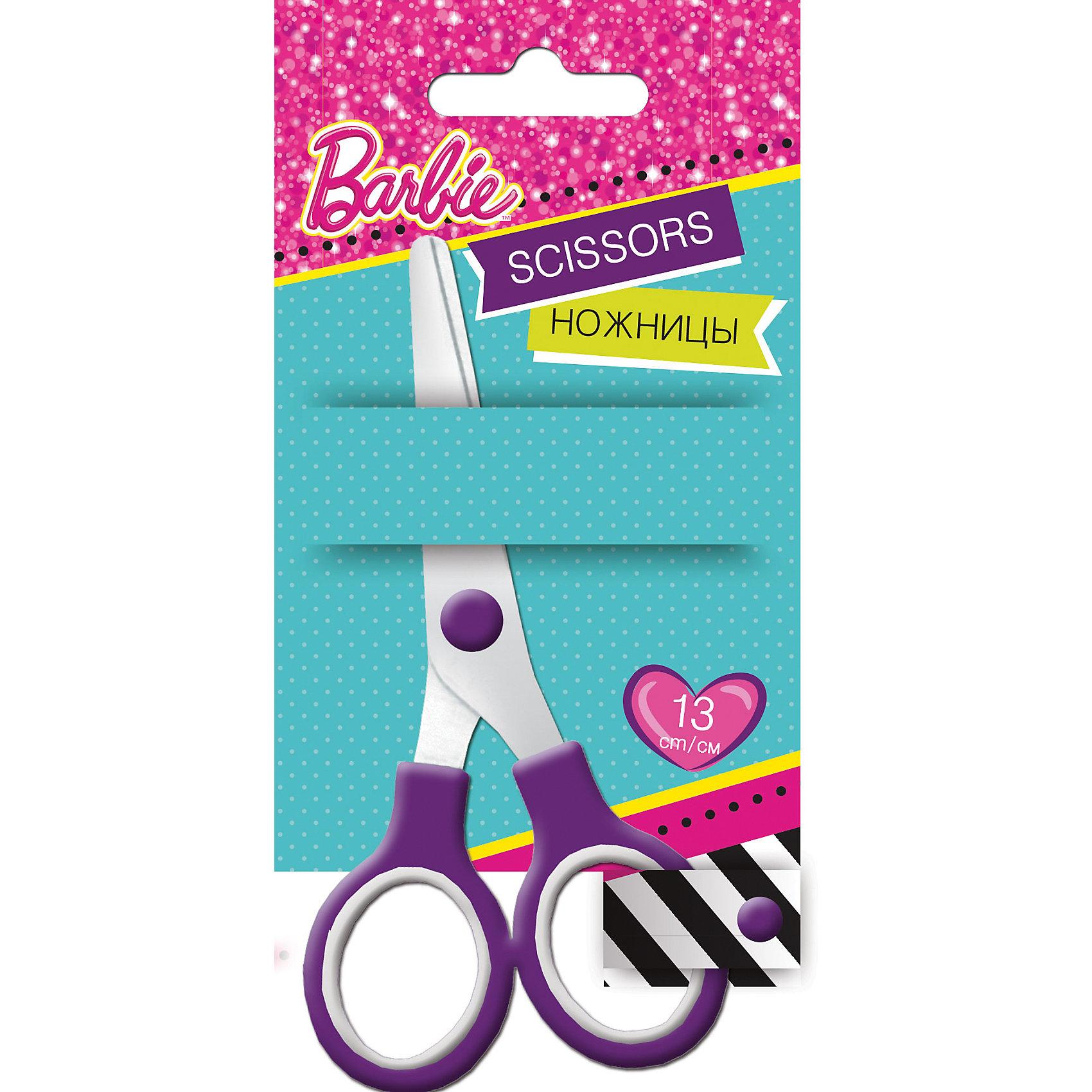 Ножницы Barbie 13 смДетские ножницы 13 см. с безопасными закругленными лезвиями, изготовленными из нержавеющей стали. Специальные ручки ножниц адаптированы для детской руки.<br><br>Дополнительная информация: <br><br>Ножницы 13 см, 1 шт. Гравировка логотипа на лезвиях.<br>Размер упаковки: 16 х 8 х 1 см.<br><br>Ножницы Barbie (Барби) 13 см можно купить в нашем магазине.<br><br>Ширина мм: 160<br>Глубина мм: 80<br>Высота мм: 10<br>Вес г: 35<br>Возраст от месяцев: 96<br>Возраст до месяцев: 108<br>Пол: Женский<br>Возраст: Детский<br>SKU: 4140946