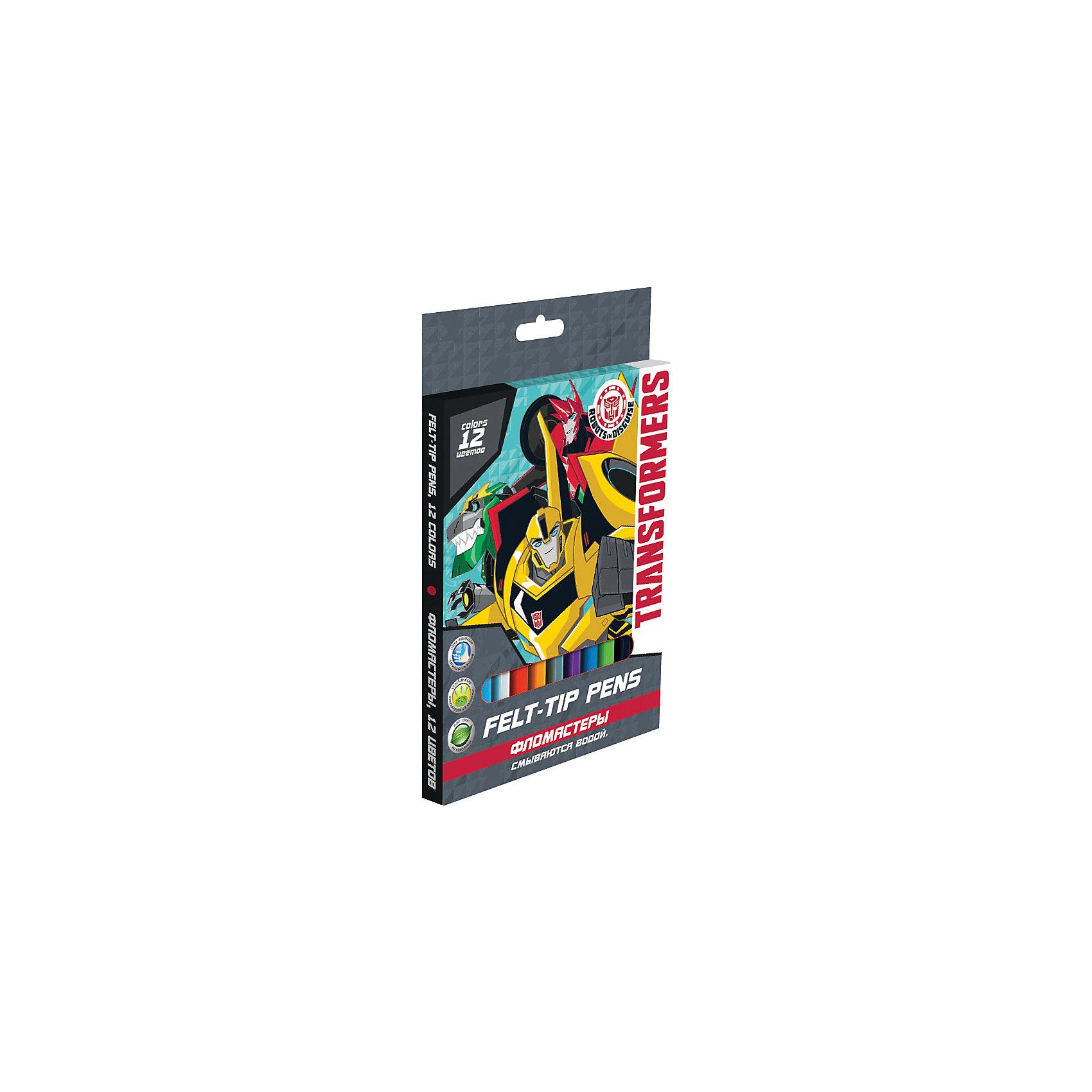 Фломастеры Трансформеры 12 штНабор цветных фломастеров с любимыми героями станут прекрасным подарком. Фломастеры предназначены для рисования и раскрашивания, помогут вашему ребенку создать неповторимые яркие рисунки. <br>Набор включает в себя фломастеры 12 ярких насыщенных цветов в разноцветных корпусах (цвет колпачка соответствует цвету чернил). Каждый фломастер оснащен плотным вентилируемым колпачком, надежно защищающим чернила от испарения, корпус дополнен золотым тиснением логотипа. <br>Фломастеры упакованы в картонную коробку. <br><br>Дополнительная информация:<br><br>Размер: 17 х 12 х 1 см.<br>Набор цветных фломастеров, 12 шт. Размер одного фломастера - 14 х 0,8 см, (с колпачком). Нейлоновый стержень, Колпачок - вентилируемый. На корпусе фломастера – тиснение золотом.<br><br>Фломастеры Трансформеры (Transformers) 12 шт можно купить в нашем магазине.<br><br>Ширина мм: 170<br>Глубина мм: 120<br>Высота мм: 10<br>Вес г: 75<br>Возраст от месяцев: 96<br>Возраст до месяцев: 108<br>Пол: Мужской<br>Возраст: Детский<br>SKU: 4140953