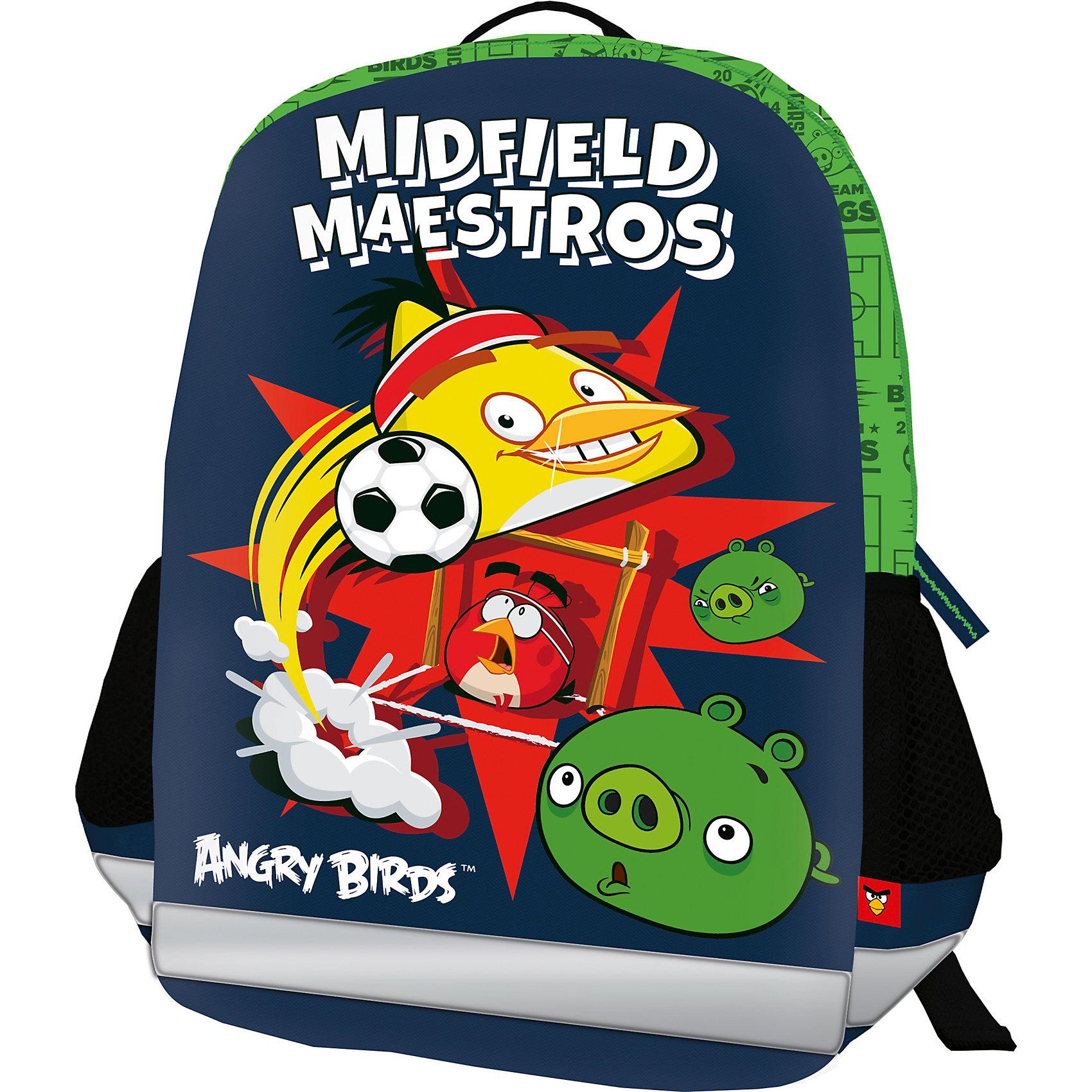 Школьный рюкзак Angry BirdsAngry Birds Товары для школы<br>Рюкзак, спинка мягкая, уплотненная поролоном, EVA фронтальная панель. Одно вместительное отделение с двумя карманами с утягивающей резинкой. По бокам расположены карманы из воздухообменного материала. Дно рюкзака мягкое, лямки S-образной формы с поролоном и воздухообменным сетчатым материалом, регулируются по длине. Рюкзак оснащен текстильной ручкой.<br><br>Дополнительная информация:<br><br>Размер: 36 х 28 х 12 см. Рюкзак каркасный, фронтальная панель из EVA. Одно вместительное отделение с двумя карманами с утягивающей резинкой. Два боковых кармана.<br><br>Каркасный рюкзак Angry Birds (Энгри Бердс) можно купить в нашем магазине.<br><br>Ширина мм: 360<br>Глубина мм: 280<br>Высота мм: 120<br>Вес г: 361<br>Возраст от месяцев: 72<br>Возраст до месяцев: 144<br>Пол: Мужской<br>Возраст: Детский<br>SKU: 4140979