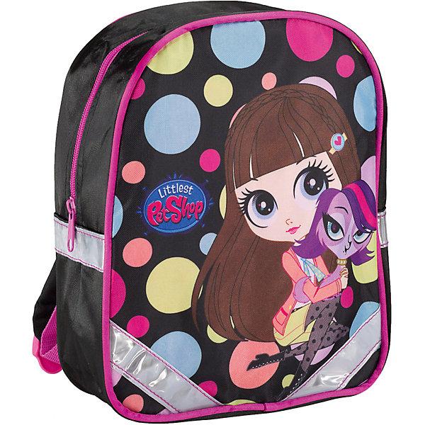 Дошкольный рюкзак, Littlest Pet ShopДетские рюкзаки<br>Рюкзак - это незаменимая вещь для прогулок и повседневных дел, в нем можно разместить самые важные вещи. Пусть у Вашего малыша тоже будет свой собственный рюкзак. У модели одно основное отделение на молнии, а лямки можно свободно регулировать по длине в зависимости от роста ребенка. Передняя панель рюкзака украшена ярким изображением любимых героев.<br><br>Дополнительная информация:<br><br>Размер 27 х 21,5 х 9,5 см.<br><br><br>Рюкзак Littlest Pet Shop (Маленький зоомагазин) 27*21,5*9,5 см можно купить в нашем магазине.<br><br>Ширина мм: 270<br>Глубина мм: 215<br>Высота мм: 95<br>Вес г: 186<br>Возраст от месяцев: 72<br>Возраст до месяцев: 96<br>Пол: Женский<br>Возраст: Детский<br>SKU: 4140990