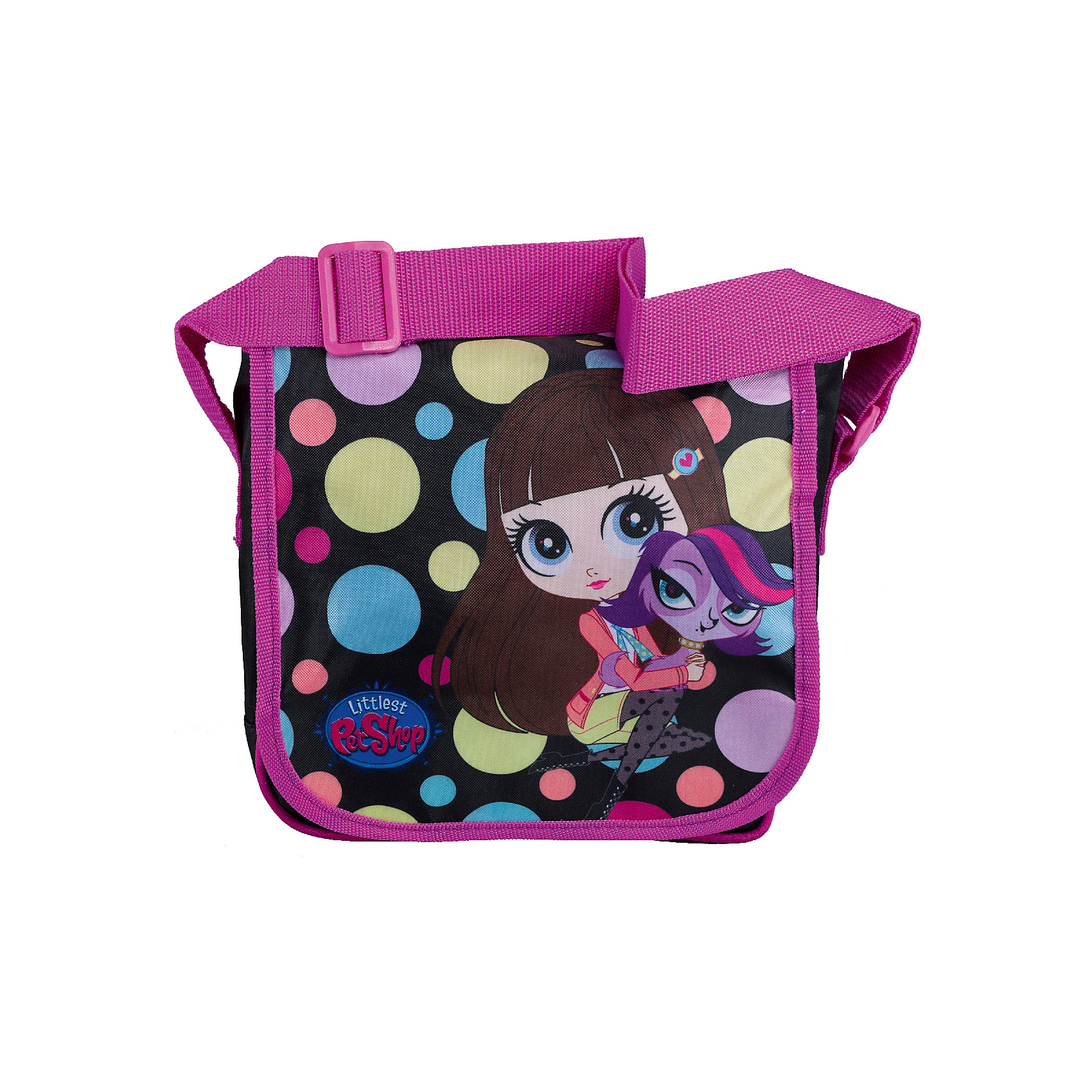 Сумка Littlest Pet Shop 21,5*22*7,5 смДорожные сумки и чемоданы<br>Стильная детская сумочка с изображением любимых героев, несомненно понравится Вашему ребенку. С ней можно отправиться на прогулку и взять с собой все самое необходимое. Сумка закрывается на клапан на липучке. Лямка свободно регулируется по длине, обеспечивая дополнительный комфорт. Модель выполнена из плотного и износостойкого полиэстера.<br><br>Дополнительная информация:<br><br>Одно отделение, перекидной клапан на липучке.<br>Размер 21,5 х 22 х 7,5 см.<br><br>Сумку Littlest Pet Shop (Маленький зоомагазин) 21,5*22*7,5 см можно купить в нашем магазине.<br><br>Ширина мм: 215<br>Глубина мм: 220<br>Высота мм: 75<br>Вес г: 168<br>Возраст от месяцев: 48<br>Возраст до месяцев: 84<br>Пол: Женский<br>Возраст: Детский<br>SKU: 4141001