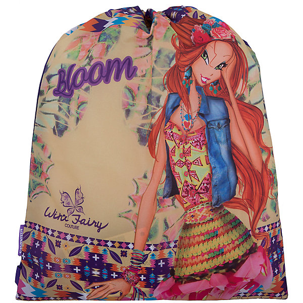 Сумка-рюкзак для обуви Winx Fairy Couture, Winx ClubМешки для обуви<br>Сумку-рюкзак удобно использовать для хранения и переноски сменной обуви. Мешок выполнен из плотного материала. Он затягивается сверху при помощи текстильных шнурков, которые фиксируются в нижней части, благодаря чему его можно носить за спиной, как рюкзак.<br><br>Дополнительная информация:<br><br>Размер: 43 х 34 х 1 см.<br><br>Сумку-рюкзак для обуви Winx Fairy Couture (Клуб Винкс: Школа волшебниц) можно купить в нашем магазине.<br><br>Ширина мм: 430<br>Глубина мм: 340<br>Высота мм: 10<br>Вес г: 52<br>Возраст от месяцев: 96<br>Возраст до месяцев: 108<br>Пол: Женский<br>Возраст: Детский<br>SKU: 4141529