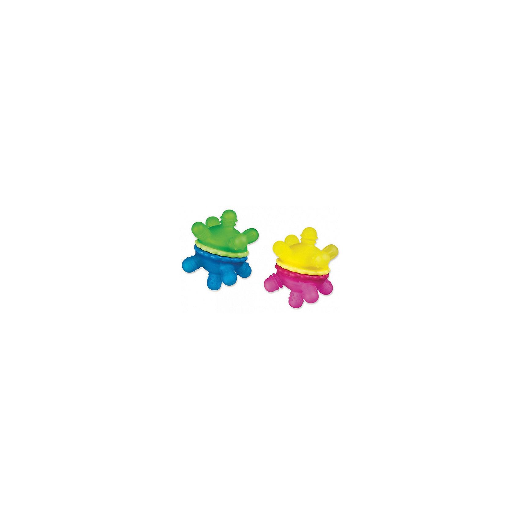 Игрушка прорезыватель Мячик, MunchkinПрорезыватели<br>Игрушка  прорезыватель  Мячик, Munchkin (Манчкин) – эта игрушка поможет малышу облегчить период прорезывания зубов.<br>Игрушка-прорезыватель Munchkin (Манчкин) Мячик выполнена из безопасного, нетоксичного и приятного для кусания пластика, в виде мячика с выпуклыми ручками. Мячик состоит из двух половинок. Внутри мячика находятся гранулы, гремящие при тряске. Половинки игрушки поворачиваются со звуком трещотки. Ваш малыш сможет игрушку сжимать, кусать и скручивать. Ручки имеют 10 различных рельефных поверхностей. Это даст малышу возможность подобрать самый комфортный вариант для успокоения нежных десен, и снимет неприятные ощущения при прорезывании зубов. Игрушка прорезыватель Мячик поможет малышу развить мелкую моторику рук и тактильные ощущения.<br><br>Дополнительная информация:<br><br>- В комплекте: 1 игрушка<br>- Цвет в ассортименте<br>- Материал: пластик<br>- Размер игрушки: 10,5 х 10,5 х 8 см.<br>- Размер упаковки: 12 х 13 х 15 см.<br>- Вес: 100 г.<br>- ВНИМАНИЕ! Данный товар представлен в ассортименте. К сожалению, предварительный выбор невозможен. При заказе нескольких единиц данного товара, возможно получение одинаковых<br><br>Игрушку  прорезыватель  Мячик, Munchkin (Манчкин) можно купить в нашем интернет-магазине.<br><br>Ширина мм: 120<br>Глубина мм: 130<br>Высота мм: 150<br>Вес г: 100<br>Возраст от месяцев: 6<br>Возраст до месяцев: 36<br>Пол: Унисекс<br>Возраст: Детский<br>SKU: 4142381