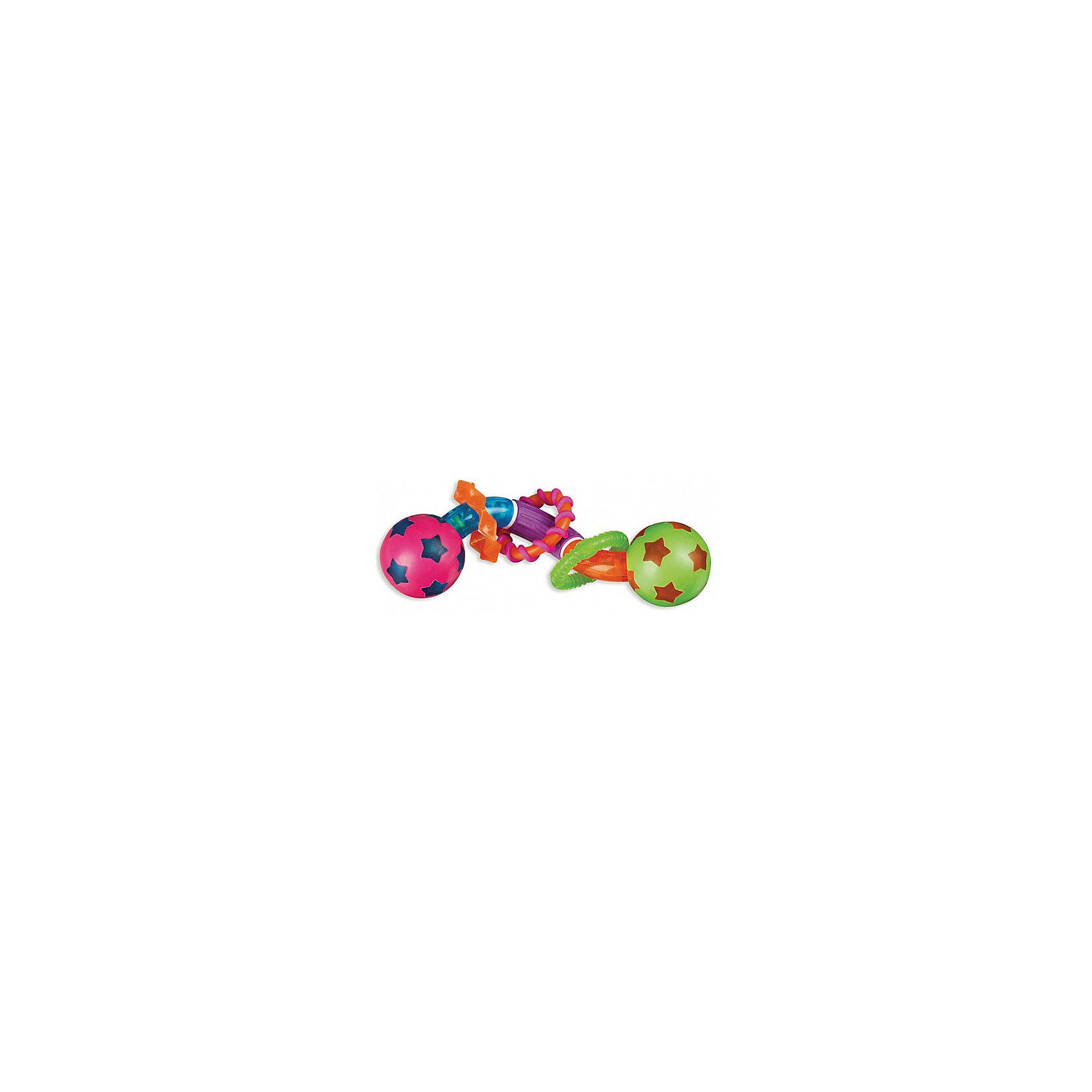 Игрушка твистер Мячики, MunchkinИгрушка  твистер  Мячики, Munchkin (Манчкин) - эта яркая игрушка привлечет внимание малыша и поможет облегчить период прорезывания зубов.<br>Игрушка твистер Мячики выполнена из разноцветных элементов в виде крутящейся спиральки с вращающимися шариками по краям. Ваш малыш сможет сжимать, кусать и скручивать игрушку, создавая различные конфигурации. На спираль нанизаны три разноцветных колечка с различными рельефными поверхностями, которые снимут неприятные ощущения в период прорезывания зубов. Игрушка способствует развитию цветовосприятия, тактильных ощущений и мелкой моторики рук.<br><br>Дополнительная информация:<br><br>- Материал: пластик<br>- Размер игрушки: 18 х 4,5 х 4,5 см.<br>- Размер упаковки: 22 х 12 х 8 см.<br>- Вес: 100 г.<br><br>Игрушку твистер  Мячики, Munchkin (Манчкин) можно купить в нашем интернет-магазине.<br><br>Ширина мм: 80<br>Глубина мм: 120<br>Высота мм: 220<br>Вес г: 100<br>Возраст от месяцев: 6<br>Возраст до месяцев: 36<br>Пол: Унисекс<br>Возраст: Детский<br>SKU: 4142389