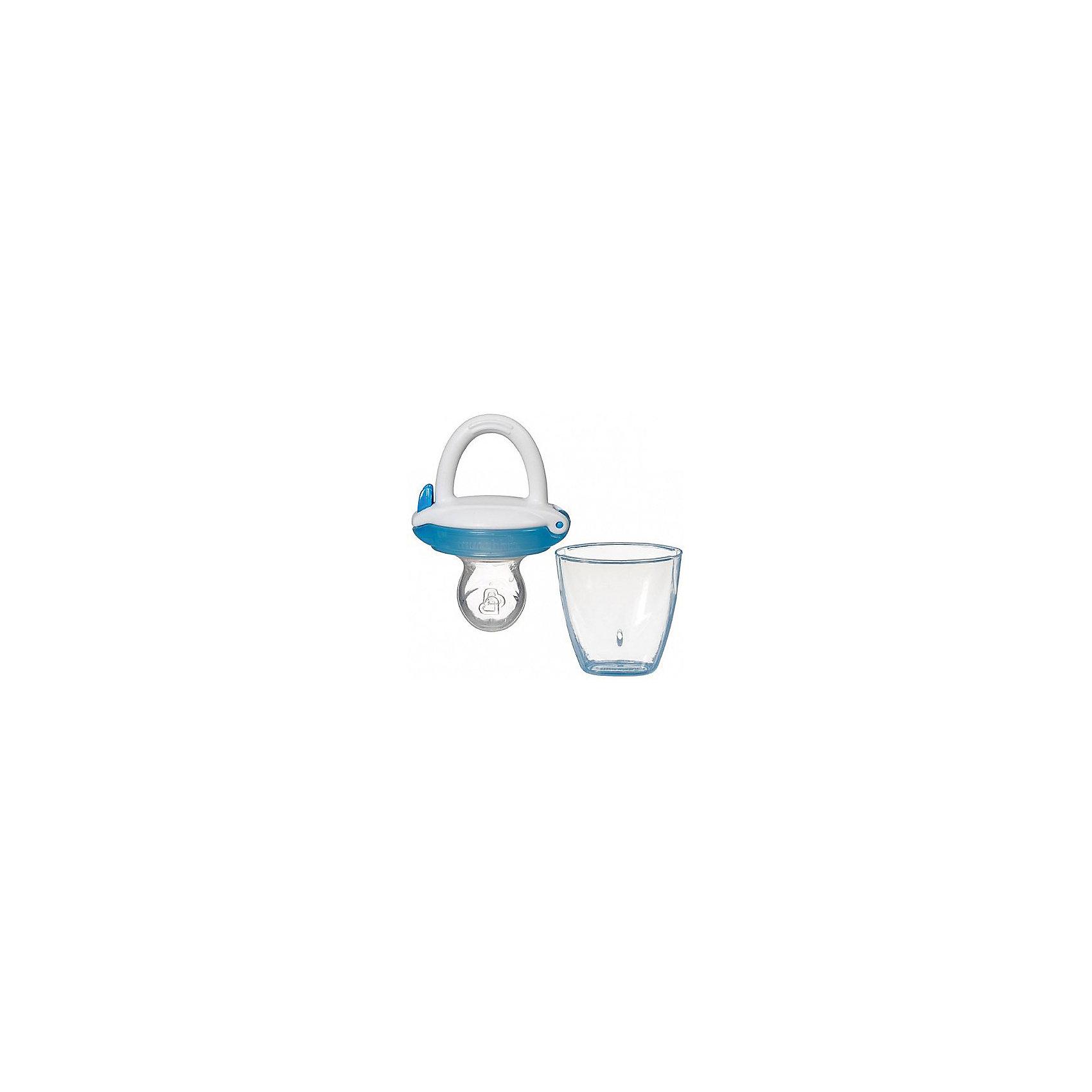 Ниблер для детского питания, Munchkin, синийПосуда для малышей<br>Ниблер для детского питания, Munchkin (Манчкин) – это силиконовый ниблер для безопасного кормления малыша, а также для обучения жеванию.<br>Ниблер в форме пустышки для легкого и безопасного введения прикорма на начальном этапе перехода к твердой пище. Он позволяет безо всякого риска вводить в рацион ребенка твердую пищу, в том числе фрукты и овощи, без риска подавиться. Ниблер удобен для маленьких детских ручек. Развивает, умение малыша есть самостоятельно. Легко чистится. Прост в использовании: просто откройте верхнюю часть емкости и поместите продукты в соску. Силиконовая емкость пропускает в виде пюре, помещенные в нее кусочки фруктов и овощей. Подходит для кормления в период прорезывании зубов. В комплекте дорожная крышка-футляр, которая защитит ниблер от загрязнений и позволит использовать его на прогулке и в других ситуациях, когда вы находитесь не дома.<br><br>Дополнительная информация:<br><br>- В комплекте: 1 ниблер<br>- Цвет в ассортименте<br>- Материал: силикон<br>- Не содержит Бисфенол А<br>- Не является пустышкой и должен быть использован под наблюдением взрослых<br>- Размер упаковки: 19 х 10 х 3 см.<br>- Вес: 150 г.<br>- ВНИМАНИЕ! Данный товар представлен в ассортименте. К сожалению, предварительный выбор невозможен. При заказе нескольких единиц данного товара, возможно получение одинаковых<br><br>Ниблер для детского питания, Munchkin (Манчкин) можно купить в нашем интернет-магазине.<br><br>Ширина мм: 50<br>Глубина мм: 20<br>Высота мм: 100<br>Вес г: 50<br>Возраст от месяцев: 4<br>Возраст до месяцев: 36<br>Пол: Унисекс<br>Возраст: Детский<br>SKU: 4142395
