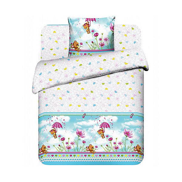 Детское постельное белье 3 предмета Василёк, Мишутка-малютка