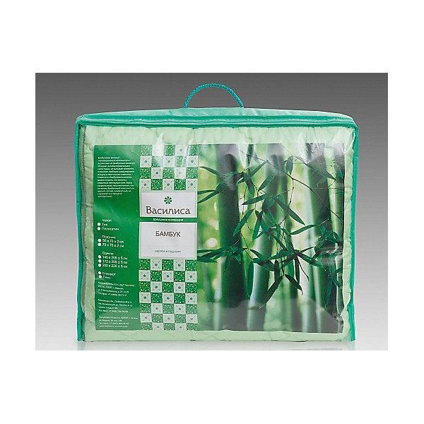 Одеяло Бамбук 140*205 см, ВасилисаОдеяла<br>Одеяло Бамбук 140*205 см, Василиса – это лучшим выбором для комфортного и здорового сна и отдыха.<br>Одеяло Бамбук обладает естественными антибактериальными свойствами, успокаивает и восстанавливает во время сна, не вызывает аллергии. Бамбуковое волокно - натуральный растительный наполнитель, обеспечивающий комфорт и здоровый сон. Уникальная пористая структура волокна позволяет свободно дышать - создает эффект свежести во время сна. Изделия из бамбукового волокна можно стирать, что является огромным преимуществом перед натуральными наполнителями. Этот наполнитель мягкий, лёгкий, комфортный, не слёживается в процессе эксплуатации. Чехол одеяла выполненный из полисатина прочный и плотный.<br><br>Дополнительная информация:<br><br>- Материал чехла: полисатин<br>- Цвет: зеленый<br>- Наполнитель: бамбуковое волокно<br>- Размер одеяла: 140 х 205 см.<br>- Размер упаковки: 70 х 70 х 30 см.<br>- Вес: 1,9 кг.<br><br>Одеяло Бамбук 140*205 см, Василиса можно купить в нашем интернет-магазине.<br>Ширина мм: 700; Глубина мм: 700; Высота мм: 300; Вес г: 1900; Возраст от месяцев: 36; Возраст до месяцев: 216; Пол: Унисекс; Возраст: Детский; SKU: 4143475;