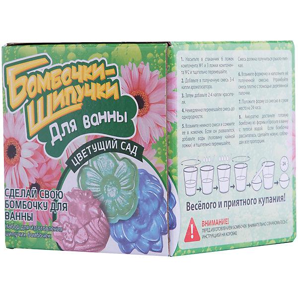 Набор Бомбочки-Шипучки. Цветущий садНаборы детской косметики<br>Набор Бомбочки-Шипучки. Цветущий сад – это набор для создания в домашних условиях самодельных бомбочек для ванн.<br>С набором Бомбочки-Шипучки. Цветущий сад можно сделать ароматные бомбочки для ванны в виде красивых цветов. Благодаря красителям и ароматизаторам, каждая из бомбочек будет отличаться по окраске и аромату. Процесс создания бомбочек абсолютно безопасен и очень увлекателен. Пошаговая инструкция, расположенная на упаковке, познакомит ребенка с последовательностью выполнения работы. Когда шипучки будут готовы, можно отправляться принимать ванну. При соприкосновении с водой бомбочки зашипят, образуя пузырьки и пушистую пену. Во время купания бомбочки наполнят ванну приятным ароматом и обогатят воду полезными веществами. В набор входят только натуральные компоненты.<br><br>Дополнительная информация:<br><br>- В наборе: формочки, емкость для перемешивания, палочки для перемешивания, ложка мерная, перчатки, натуральные компоненты для изготовления бомбочек-шипучек<br>- Размер упаковки: 12х12х12 см.<br>- Вес упаковки: 900 гр.<br><br>Набор Бомбочки-Шипучки. Цветущий сад можно купить в нашем интернет-магазине.<br><br>Ширина мм: 120<br>Глубина мм: 120<br>Высота мм: 120<br>Вес г: 900<br>Возраст от месяцев: 120<br>Возраст до месяцев: 168<br>Пол: Унисекс<br>Возраст: Детский<br>SKU: 4143794