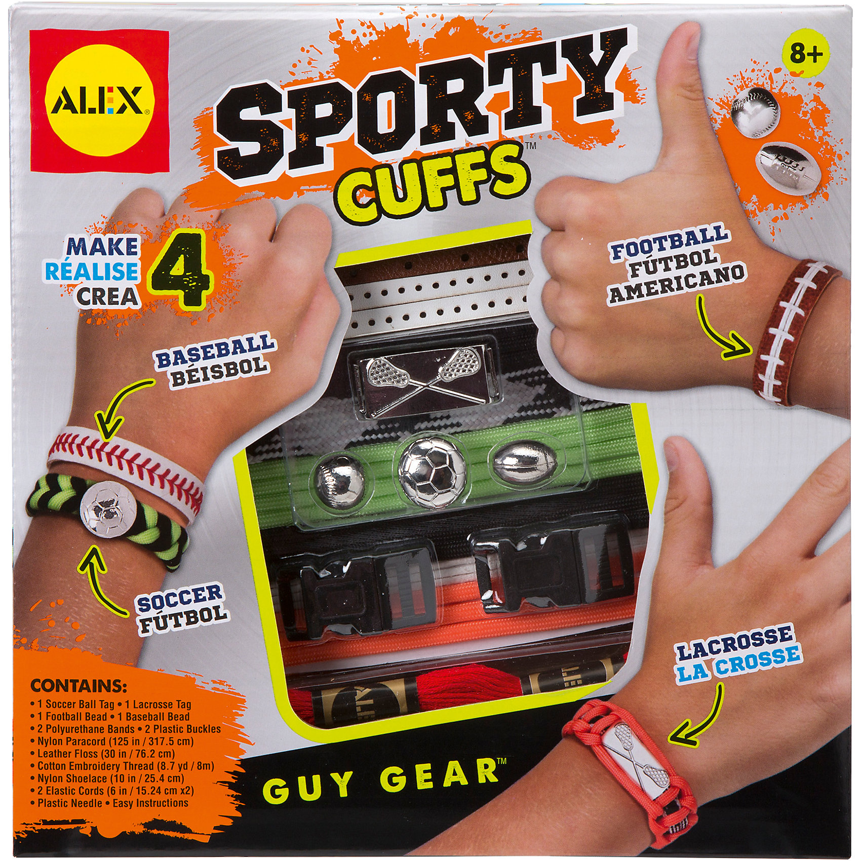 ALEX Набор Сделай сам: Браслеты Звезды спорта, ALEX alex набор браслеты бро