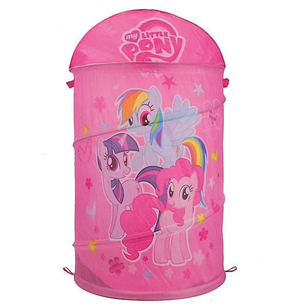 Корзина для игрушек My little PonyКорзины для игрушек<br>Корзина для игрушек My little Pony (Май литл Пони) непременно понравится маленьким любительницам одноименного мультика! Корзина впишется в интерьер любой детской комнаты и поможет Вашей малышке быстро навести порядок. Ведь убираться с любимыми героями намного веселей! Благодаря удобной и прочной застежке, девочка сможет часто открывать и закрывать корзину, чтобы взять любимые игрушки. Корзинка для игрушек очень компактна в сложенном виде. <br><br>Дополнительная информация:<br>-Серия: Мой маленький Пони<br>-Размеры: 43х60 см<br>-Материалы: текстиль, пластик<br><br>Корзина для игрушек My little Pony (Моя маленькая Пони) можно купить в нашем магазине.<br>Ширина мм: 30; Глубина мм: 470; Высота мм: 470; Вес г: 540; Возраст от месяцев: 12; Возраст до месяцев: 108; Пол: Женский; Возраст: Детский; SKU: 4144391;