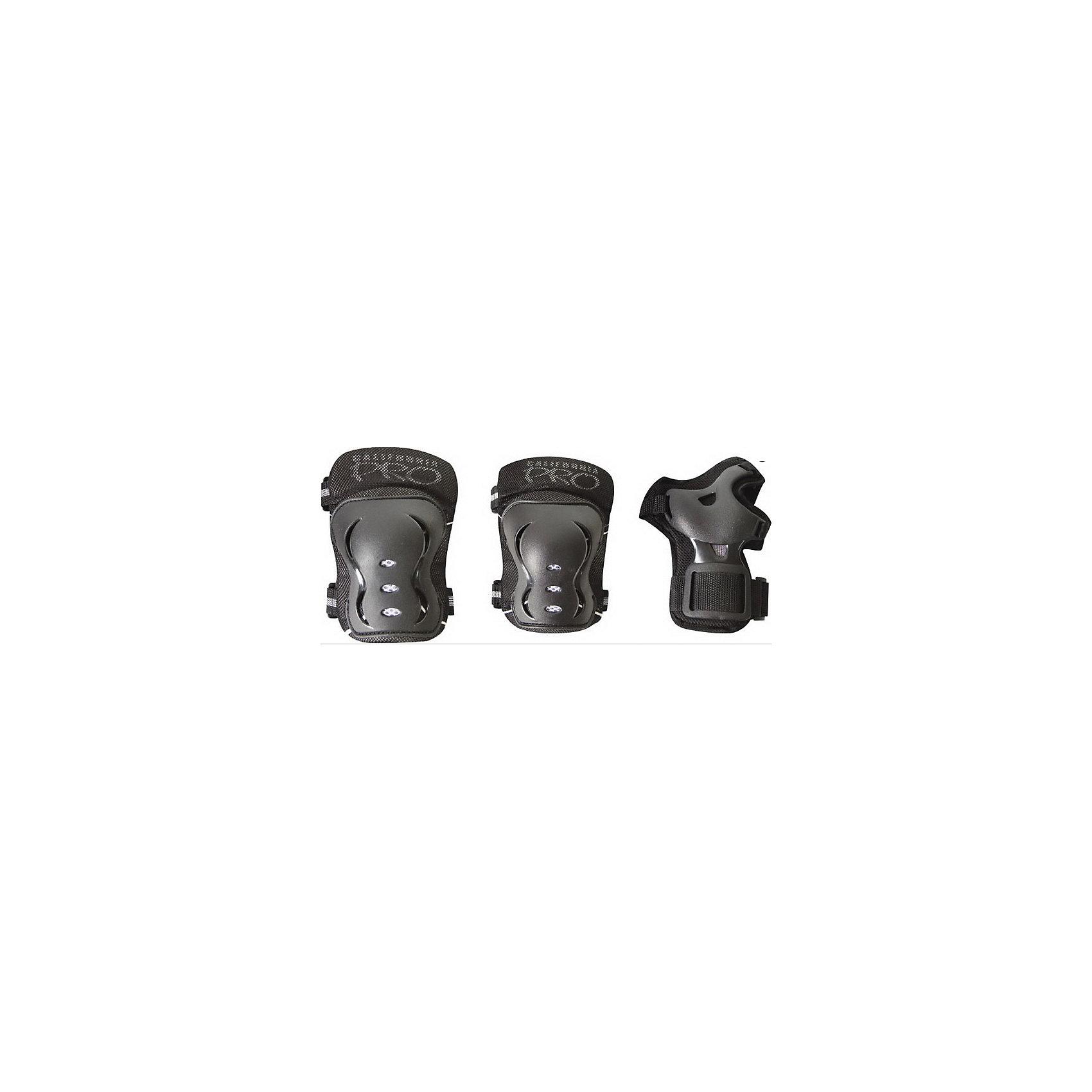 Защита California Pro, размер M, Tech TeamХарактеристики:<br><br>• Предназначение: для защиты от травм во время катания<br>• Пол: универсальный<br>• Цвет: черный<br>• Материал: пластик, текстиль<br>• Застежка: липучка<br>• Комлектация: наколенники, налокотники, защита на кисти рук<br>• Размер упаковки: 79*3,8*50 см (М)<br>• Вес: 458 г<br><br>Защита California Pro, размер M, Tech Team обеспечивает комплексную защиту коленей, локтей и кистей рук во время катания ребенка на велосипеде, самокате, роликах или скейтборде. Все защитные элементы легко крепятся за счет застежек на липучках и плотно прилегают к частям тела. Твердые вставки обеспечивают защиту суставов от вывихов. <br>Защита California Pro, размер M, Tech Team обеспечит безопасное катание вашего ребенка на любом виде детского транспорта!<br><br>Защита California Pro, размер M, Tech Team можно купить в нашем интернет-магазине.<br><br>Подробнее:<br>Для детей в возрасте: от 5 и до 8 лет<br>Номер товара: 4144448<br>Страна производитель: Китай<br><br>Ширина мм: 790<br>Глубина мм: 500<br>Высота мм: 38<br>Вес г: 458<br>Возраст от месяцев: 60<br>Возраст до месяцев: 96<br>Пол: Унисекс<br>Возраст: Детский<br>SKU: 4144448