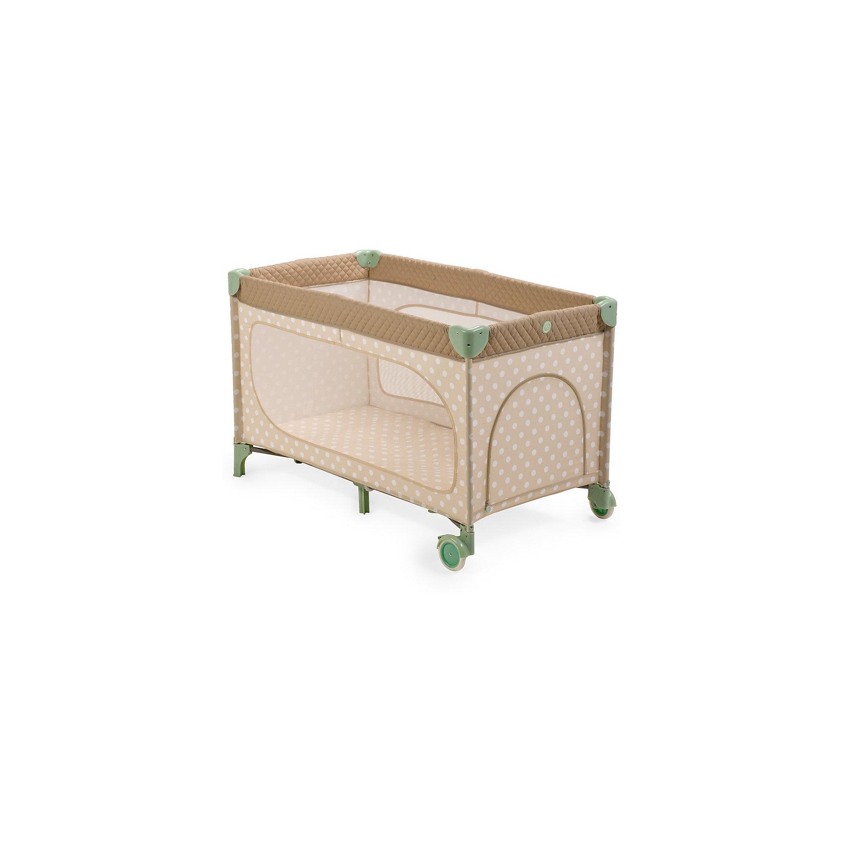 Манеж-кровать Martin, Happy Baby, бежевыйЭлегантный манеж, легко превращающийся в комфортабельную кроватку, выполнен из современных, легких материалов. Большие окна обеспечивают вентиляцию, прекрасное освещение и позволяют хорошо видеть малыша. Два колесика делают удобным перемещение манежа-кроватки по дому. Все углы и опасные для ребенка поверхности защищены специальными накладками.<br><br>В комплектацию входит съемный матрасик, дополнительный второй уровень, а для активных малышей имеется боковой лаз. Кроватка легко и компактно складывается.<br><br>Дополнительная информация:<br><br>Размеры в сложенном виде: 76 см Х 26 см Х 22 см<br>Размеры в разложенном виде: 128 см Х 76 см Х 70 см<br>Размер спального места: 120 см Х 60 см<br>Максимальный вес ребенка: до 15 кг<br><br>Кровать-манеж Martin, Happy Baby, бежевую можно купить в нашем магазине.<br><br>Ширина мм: 220<br>Глубина мм: 230<br>Высота мм: 780<br>Вес г: 12000<br>Возраст от месяцев: 0<br>Возраст до месяцев: 36<br>Пол: Унисекс<br>Возраст: Детский<br>SKU: 4146881