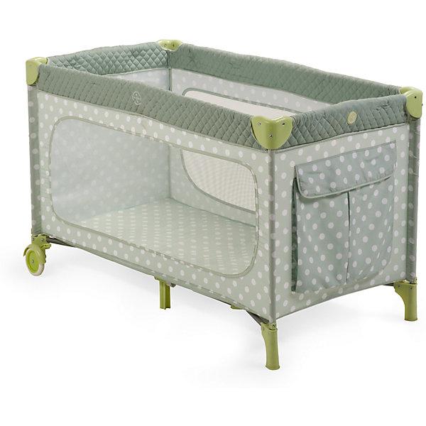 Манеж-кровать Martin, Happy Baby, серый/оливковыйДетские кроватки<br>Элегантный манеж, легко превращающийся в комфортабельную кроватку, выполнен из современных, легких материалов. Большие окна обеспечивают вентиляцию, прекрасное освещение и позволяют хорошо видеть малыша. Два колесика делают удобным перемещение манежа-кроватки по дому. Все углы и опасные для ребенка поверхности защищены специальными накладками.<br><br>В комплектацию входит съемный матрасик, дополнительный второй уровень, а для активных малышей имеется боковой лаз. Кроватка легко и компактно складывается.<br><br>Дополнительная информация:<br><br>Размеры в сложенном виде: 76 см Х 26 см Х 22 см<br>Размеры в разложенном виде: 128 см Х 76 см Х 70 см<br>Размер спального места: 120 см Х 60 см<br>Максимальный вес ребенка: до 15 кг<br><br>Кровать-манеж Martin, Happy Baby, серую можно купить в нашем магазине.<br><br>Ширина мм: 220<br>Глубина мм: 230<br>Высота мм: 780<br>Вес г: 12000<br>Цвет: серый<br>Возраст от месяцев: 0<br>Возраст до месяцев: 36<br>Пол: Унисекс<br>Возраст: Детский<br>SKU: 4146883