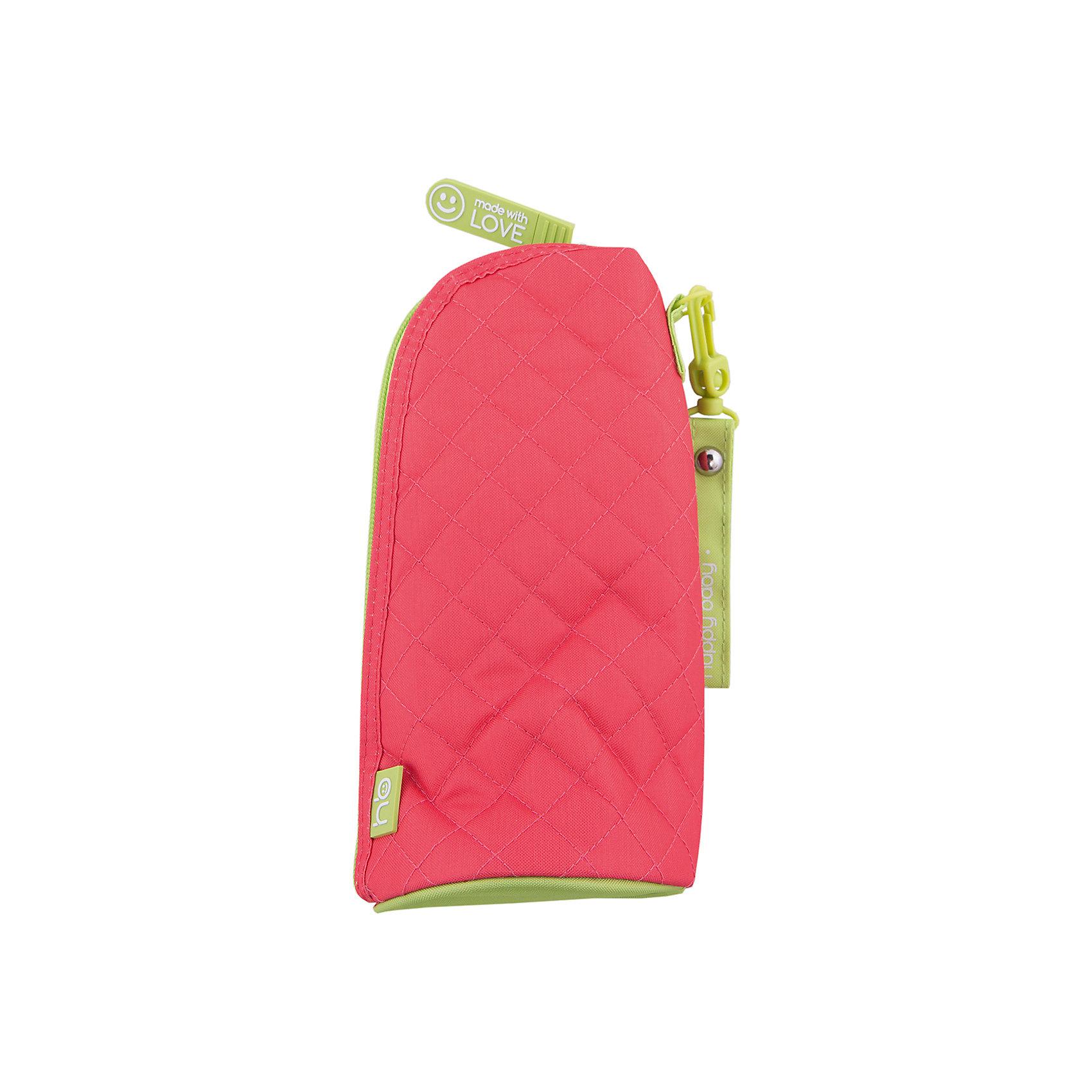 Пенал для бутылочек THERMO CASE FOR BOTTLES, Happy Baby, красныйУдобный пенал для бутылочек - отличный аксессуар для прогулок и поездок. Он помогает дольше сохранить нужную температуру содержимого бутылочки для малыша и защищает ее от повреждений. Футляр застёгивается на молнию и имеет удобное крепление на кнопке.<br><br>Дополнительная информация:<br><br>Материал: полиэстер, фольгированная ткань.<br>Бутылочка в комплект не входит.<br><br>Пенал для бутылочек THERMO CASE FOR BOTTLES, Happy Baby, красный можно купить в нашем магазине.<br><br>Ширина мм: 100<br>Глубина мм: 150<br>Высота мм: 50<br>Вес г: 150<br>Возраст от месяцев: 0<br>Возраст до месяцев: 36<br>Пол: Женский<br>Возраст: Детский<br>SKU: 4146885