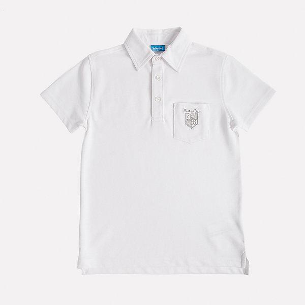 Футболка-поло для мальчика Button BlueБлузки и рубашки<br>Стильное поло с коротким рукавом из белоснежного трикотажного пике - прекрасная альтернатива текстильной рубашке. Поло подарит мальчику комфорт и свободу движений, не нарушив школьного дресскода. В отделке модели небольшая фирменная вышивка.<br>Состав:<br>50% хлопок                        50% полиэстер<br><br>Ширина мм: 230<br>Глубина мм: 40<br>Высота мм: 220<br>Вес г: 250<br>Цвет: белый<br>Возраст от месяцев: 72<br>Возраст до месяцев: 84<br>Пол: Мужской<br>Возраст: Детский<br>Размер: 122,152,134,140,158,128,146<br>SKU: 4147158