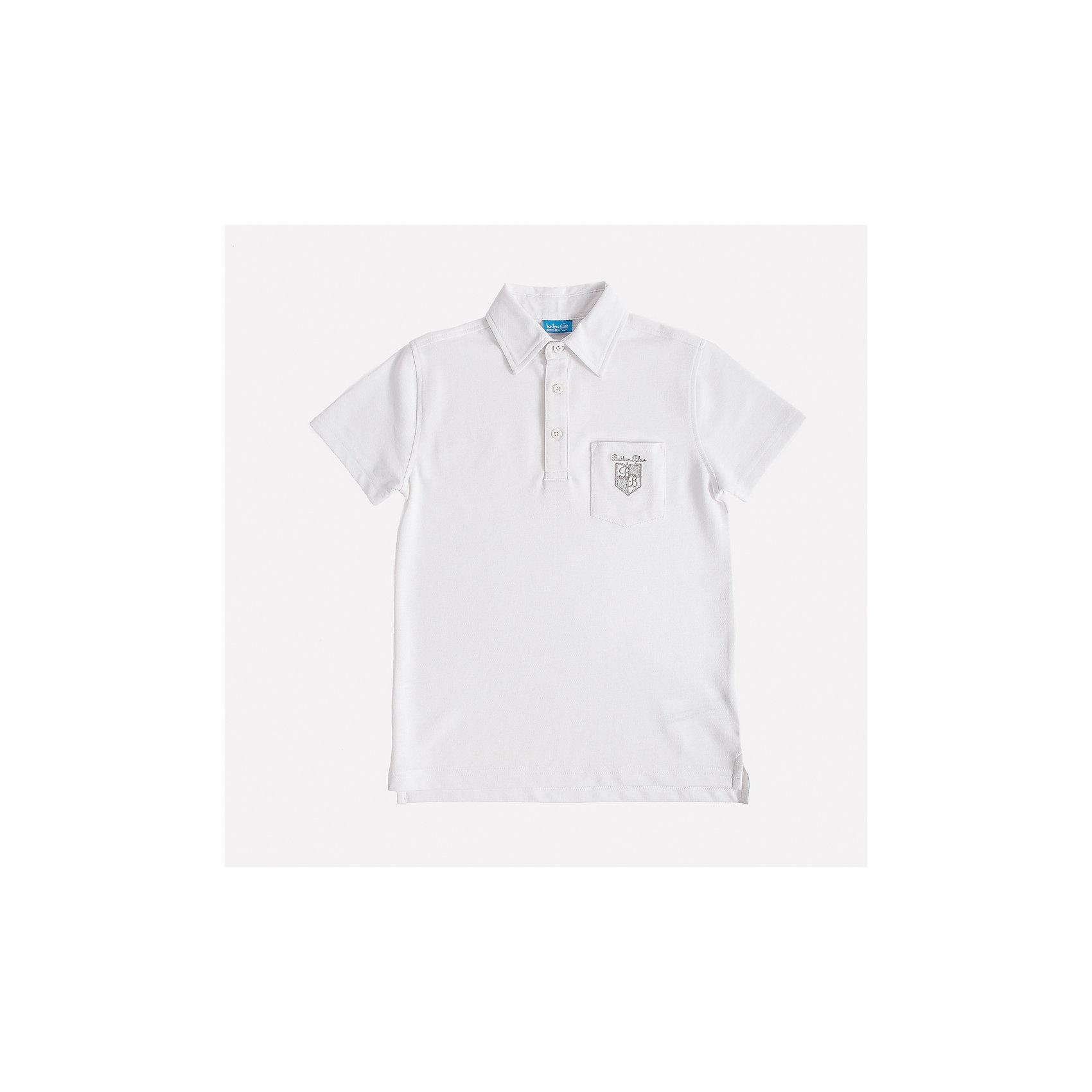 Футболка-поло для мальчика Button BlueБлузки и рубашки<br>Стильное поло с коротким рукавом из белоснежного трикотажного пике - прекрасная альтернатива текстильной рубашке. Поло подарит мальчику комфорт и свободу движений, не нарушив школьного дресскода. В отделке модели небольшая фирменная вышивка.<br>Состав:<br>50% хлопок                        50% полиэстер<br><br>Ширина мм: 230<br>Глубина мм: 40<br>Высота мм: 220<br>Вес г: 250<br>Цвет: белый<br>Возраст от месяцев: 72<br>Возраст до месяцев: 84<br>Пол: Мужской<br>Возраст: Детский<br>Размер: 122,128,158,140,134,152,146<br>SKU: 4147158