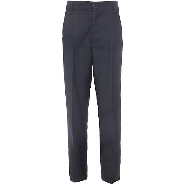 Брюки для мальчика Button BlueБрюки<br>Классические темные брюки - оптимальное решение для каждого школьного дня! Брюки имеют модную посадку на фигуре, прекрасно сидят и хорошо держат форму. Внутренняя часть пояса имеет удобную регулировку объема.<br>Состав:<br>ткань верха:  80% полиэстер, 20% вискоза  подкладка:  100%полиэстер<br><br>Ширина мм: 215<br>Глубина мм: 88<br>Высота мм: 191<br>Вес г: 336<br>Цвет: черный<br>Возраст от месяцев: 144<br>Возраст до месяцев: 156<br>Пол: Мужской<br>Возраст: Детский<br>Размер: 158,152,140,146,134,122,128<br>SKU: 4147262