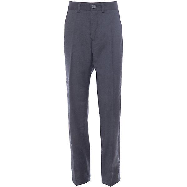 Брюки для мальчика Button BlueБрюки<br>Классические темные брюки - оптимальное решение для каждого школьного дня! Брюки имеют модную посадку на фигуре, прекрасно сидят и хорошо держат форму. Внутренняя часть пояса имеет удобную регулировку объема.<br>Состав:<br>ткань верха:  80% полиэстер, 20% вискоза  подкладка:  100%полиэстер<br><br>Ширина мм: 215<br>Глубина мм: 88<br>Высота мм: 191<br>Вес г: 336<br>Цвет: серый<br>Возраст от месяцев: 132<br>Возраст до месяцев: 144<br>Пол: Мужской<br>Возраст: Детский<br>Размер: 152,128,146,158,122,140,134<br>SKU: 4147270