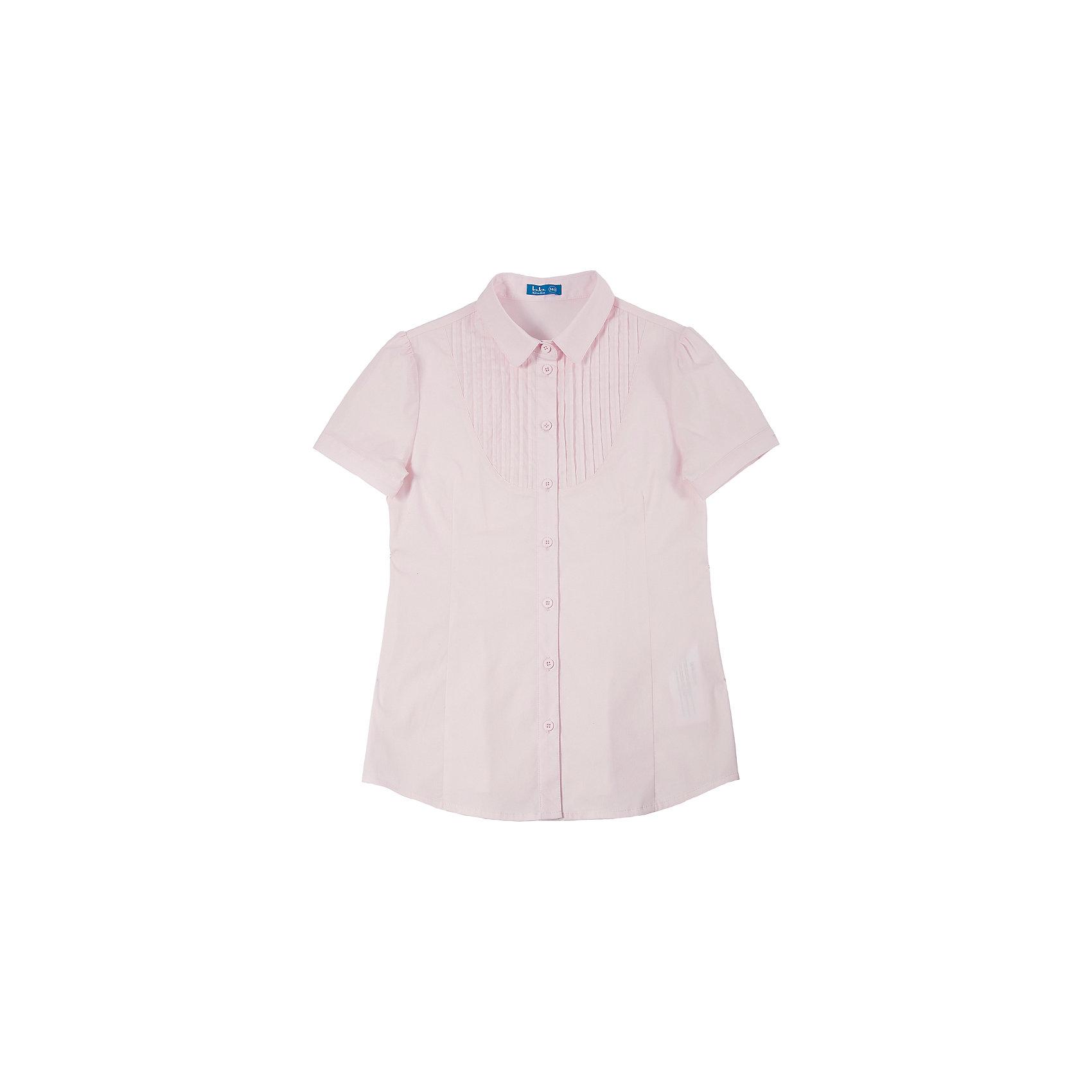Блузка для девочки Button BlueБлузки и рубашки<br>Светлая блузка с коротким рукавом - удачное решение для жарких школьных классов! Блузку украшает оригинальная  кокетка с защипами и интересная конструкция рукава с тонким манжетом и застежкой на пуговицу.<br>Состав:<br>62% хлопок,  35%нейлон,                3% эластан<br><br>Ширина мм: 186<br>Глубина мм: 87<br>Высота мм: 198<br>Вес г: 197<br>Цвет: розовый<br>Возраст от месяцев: 72<br>Возраст до месяцев: 84<br>Пол: Женский<br>Возраст: Детский<br>Размер: 122,152,134,140,158,146,128<br>SKU: 4147340