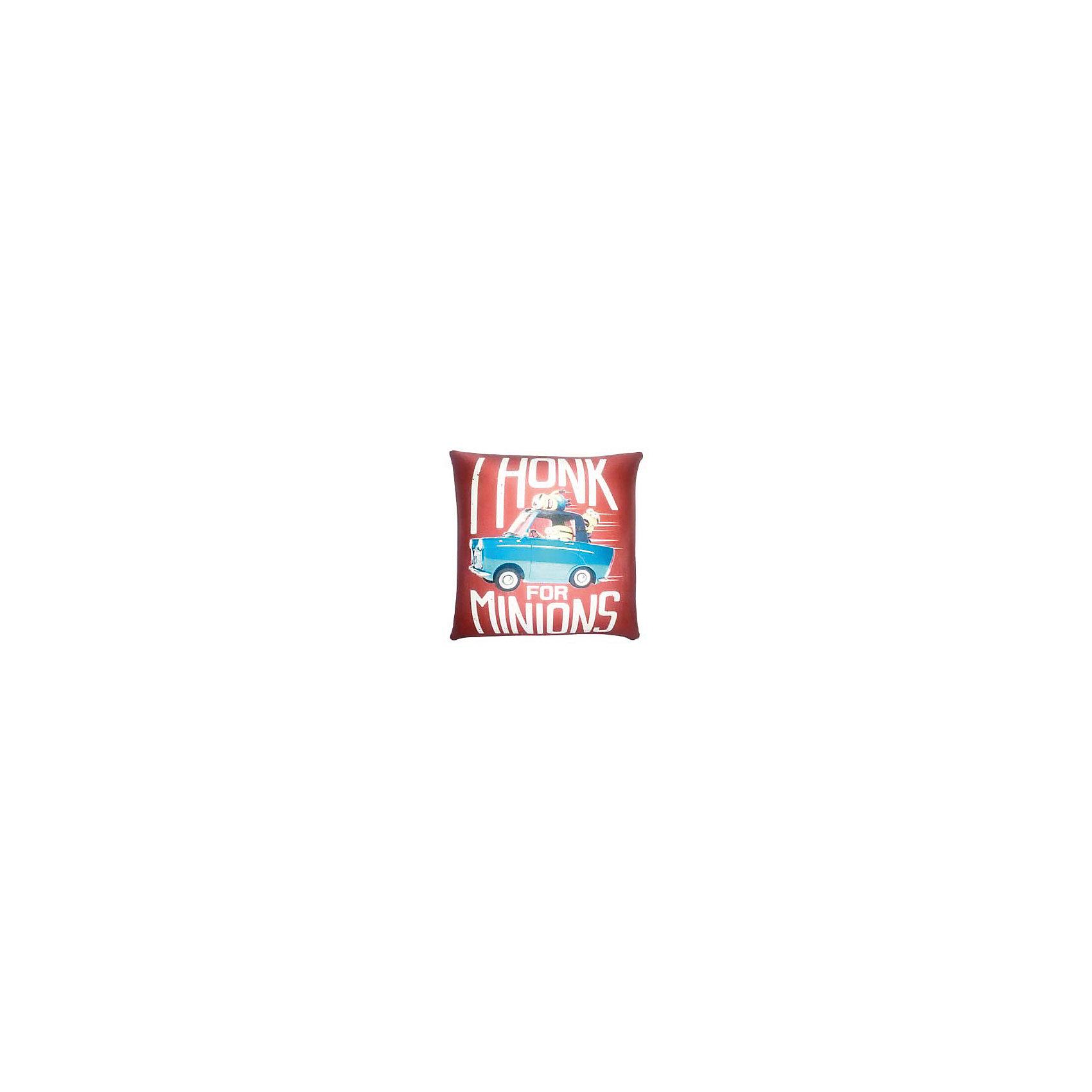 Подушка антистресс Миньоны сигналят 31 смМиньоны<br>Характеристики товара:<br><br>• цвет: коричневый<br>• размер: 11х31х31см<br>• возраст: с 3 лет<br>• материал: трикотаж, наполнитель - полистирол.<br>• страна бренда: Россия<br>• вес: 0,2 кг<br><br>Мягкая подушка с красочным дизайном украшена изображением забавных существ миньонов из популярного мультфильма Гадкий Я (Despicable Me). <br><br>Гладкая поверхность подушки выполнена из эластичного прочного трикотажа, а внутри находятся мельчайшие гранулы полистирола, благодаря которым она всегда будет легкой, упругой и приятной на ощупь. <br><br>Подушку можно мять и сжимать, но она неизменно возвращает себе первоначальную форму. Можно стирать в стиральной машинке в специальном мешке для одежды.  <br><br>Подушку-антистресс Миньоны сигналят, Миньоны, можно купить в нашем интернет-магазине.<br><br>Ширина мм: 110<br>Глубина мм: 310<br>Высота мм: 310<br>Вес г: 90<br>Возраст от месяцев: 36<br>Возраст до месяцев: 2147483647<br>Пол: Унисекс<br>Возраст: Детский<br>SKU: 4148692