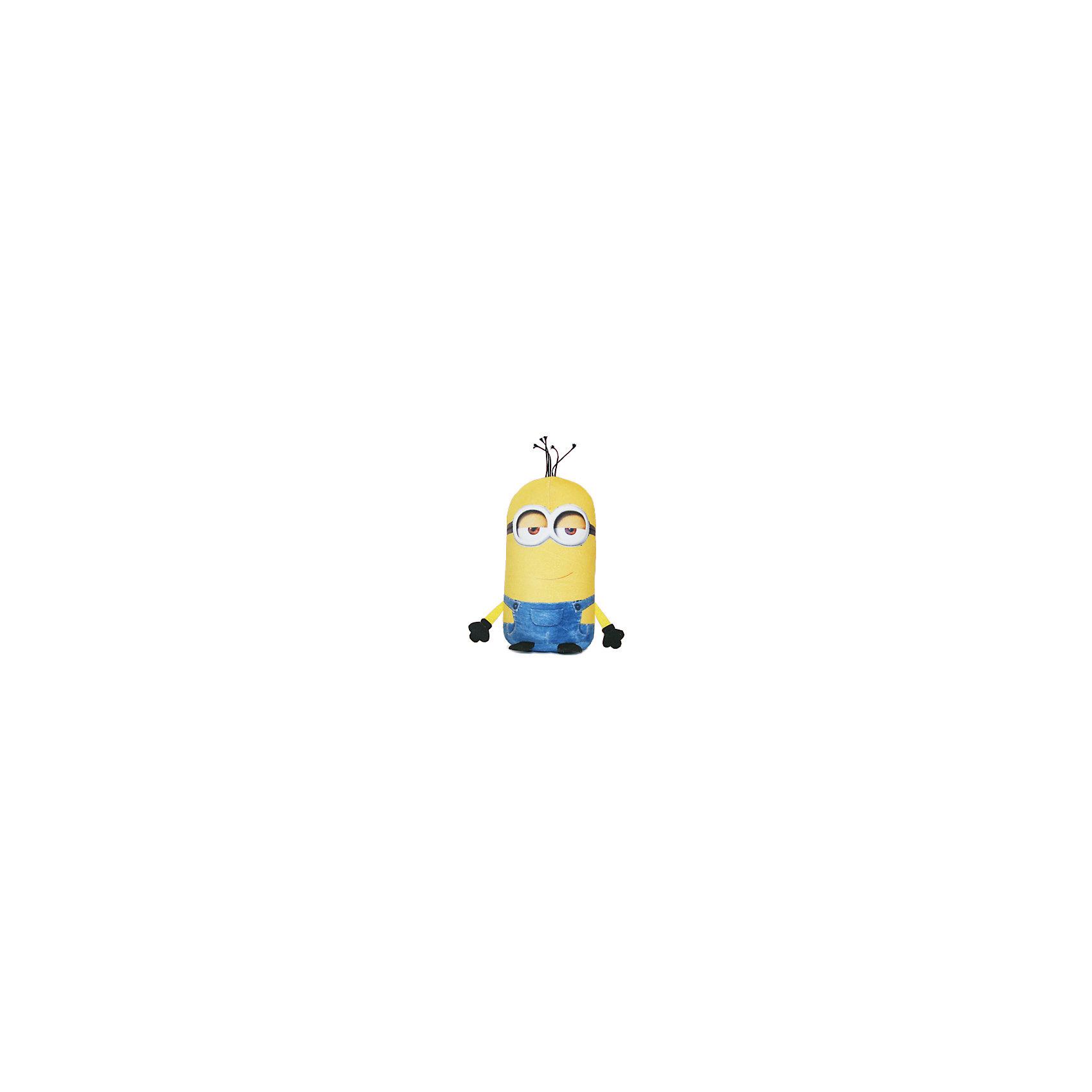 Подушка-антистресс Кевин 20 см, МиньоныМиньоны<br>Подушка-антистресс Кевин, Миньоны, порадует и поднимет настроение как детям так и взрослым. Яркая подушка выполнена в виде забавного существа миньона Кевина, персонажа популярного мультфильма Гадкий Я (Despicable Me). Основное достоинство подушки - это<br>осязательный массаж с эффектом релаксации. Гладкая поверхность подушки изготовлена из эластичного прочного трикотажа, а внутри находятся мельчайшие гранулы полистирола, благодаря которым она всегда будет легкой, упругой и приятной на ощупь. Подушку можно мять и<br>сжимать, но она неизменно возвращает себе первоначальную форму. Можно стирать в стиральной машинке в специальном мешке для одежды.  <br><br><br>Дополнительная информация:<br><br>- Материал: внешний материал - трикотаж, полиэстер, наполнитель - полистирол.<br>- Высота: 20 см.<br>- Размер упаковки: 11 х 19 х 20 см.<br>- Вес: 70 гр.<br> <br>Подушку-антистресс Кевин, СмолТойс, можно купить в нашем интернет-магазине.<br><br>Ширина мм: 110<br>Глубина мм: 190<br>Высота мм: 200<br>Вес г: 70<br>Возраст от месяцев: 36<br>Возраст до месяцев: 2147483647<br>Пол: Унисекс<br>Возраст: Детский<br>SKU: 4148693