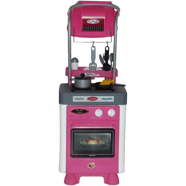 Кухня Carmen №4, ПолесьеДетские кухни<br>Характеристики товара:<br><br>• возраст: от 3 лет<br>• цвет: розовый, белый, серый.<br>• комплект: плита, детали для сборки и крепления вытяжки, посуда и аксессуары.<br>• наличие батареек: входят в комплект.<br>• тип батареек: 3 x AA / LR6 1.5V (пальчиковые).<br>• материал: пластик, металл.<br>• размер упаковки: 32 х 24 х 55 см.<br>• размер игрушки: 67 х 37 х 87 см.<br>• страна обладатель бренда: Беларусь.<br><br>Игровой набор Carmen №4 от компании Полесье состоит из плиты с вытяжкой, которая стоит на каждой кухне и различными аксессуарами и принадлежностями для готовки. <br><br>На панели расположены две конфорки и четыре кнопки: 2 включают подсветку на конфорка, имитирующих пламя, а оставшиеся 2 активируют звуки вытяжки и воспроизводят мелодию.<br><br>Набор выполнен в розово-сером цвете и выглядит очень стильно. Он обязательно понравится юной хозяйке и она будет с ним играть дни напролет.<br><br>Кухня Carmen №4, Полесье можно купить в нашем интернет-магазине.<br>Ширина мм: 580; Глубина мм: 350; Высота мм: 342; Вес г: 3183; Возраст от месяцев: 36; Возраст до месяцев: 60; Пол: Женский; Возраст: Детский; SKU: 4149078;
