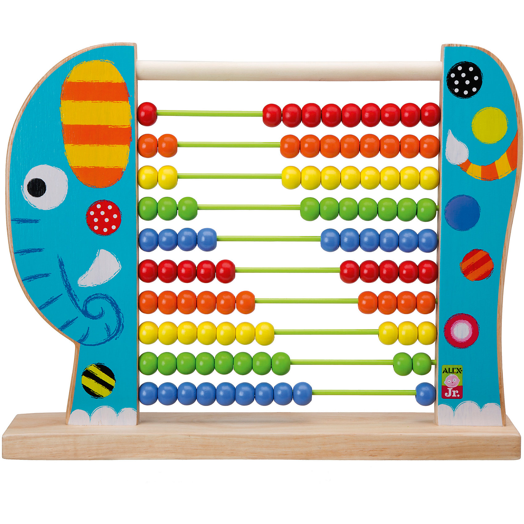 Игрушка Счеты Слоник, ALEXКрасочный деревянный слоник со счетами поможет ребенку быстрее освоить простейшие математические вычисления. Слон имеет 100 костяшек  пяти ярких цветов.<br>Развивает мелкую моторику, логическое мышление, обучает основам математики.<br><br>Дополнительная информация:<br><br>Размер игрушки: 35,5 х 30 см<br>Размер упаковки: 30 х 37 х 7 см. <br>Материал: дерево<br><br>Игрушку Счеты Слоник, ALEX (Алекс) можно купить в нашем магазине.<br><br>Ширина мм: 300<br>Глубина мм: 370<br>Высота мм: 70<br>Вес г: 1364<br>Возраст от месяцев: 24<br>Возраст до месяцев: 72<br>Пол: Унисекс<br>Возраст: Детский<br>SKU: 4149437