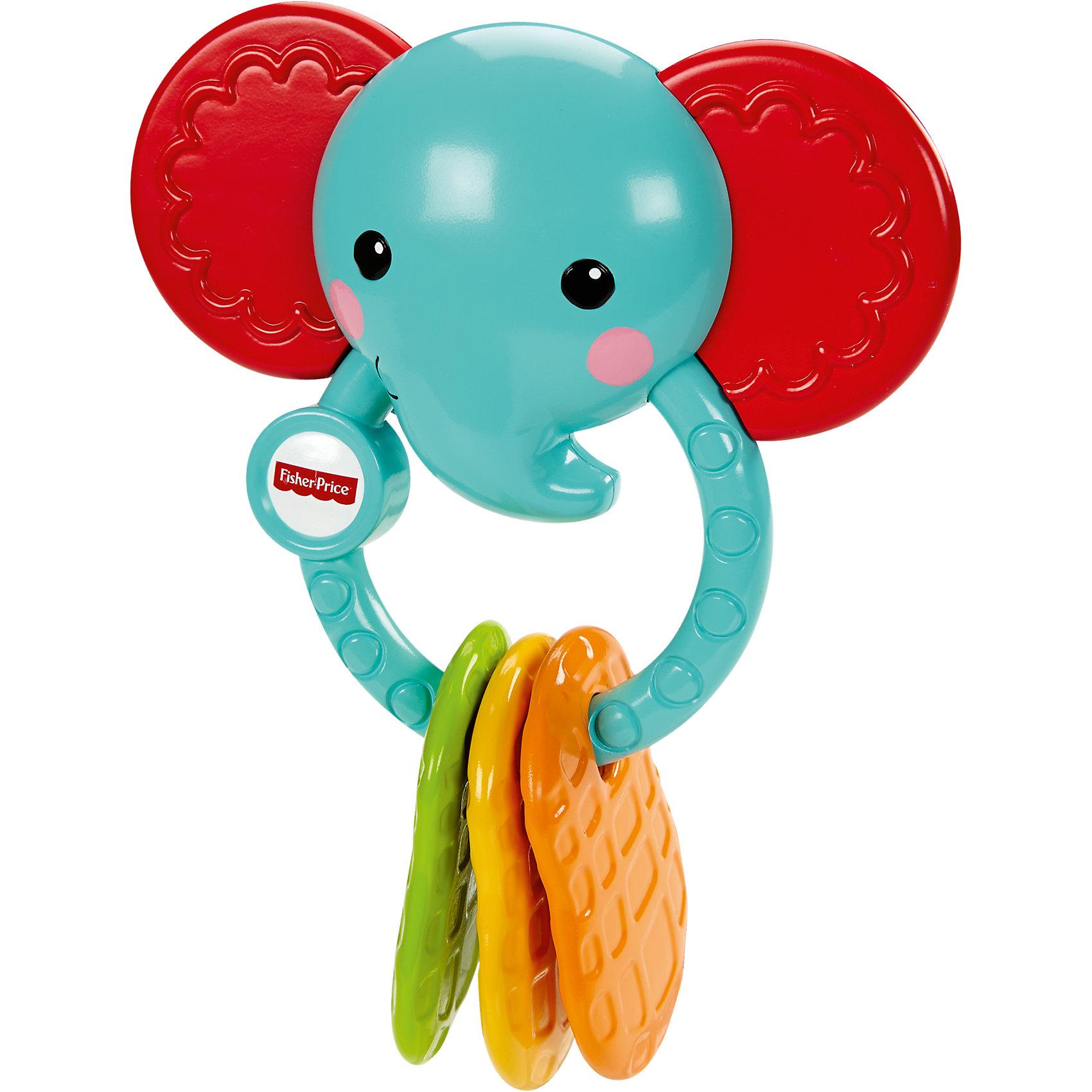 Прорезыватель Слоненок, Fisher PriceПрорезыватели<br>Погремушка-прорезыватель Слоненок от торговой марки Fisher-Price (Фишер Прайс) является отличной развивающей игрушкой. Этот забавный слоненок голубого цвета с красными ушками. У игрушки есть  специальные прорезыватели на кольце, которые помогут Вашему малышу справиться с дискомфортом в период роста зубок. Характерные звуки погремушки побуждают малютку трясти ее, благодаря чему отлично развиваются сенсорные навыки и моторика. Яркая расцветка и оригинальный дизайн обязательно понравятся вашему ребенку!<br><br>Дополнительная информация:<br><br>- возраст: с 3 месяцев.<br>- материал: пластик.<br>- размер упаковки: 18 * 14 * 6 см.<br>- торговая марка: Fisher-Price<br><br>Погремушку-прорезыватель Слоненок от торговой марки Fisher-Price (Фишер Прайс) можно купить в нашем интернет-магазине<br><br>Ширина мм: 147<br>Глубина мм: 142<br>Высота мм: 68<br>Вес г: 149<br>Возраст от месяцев: 3<br>Возраст до месяцев: 12<br>Пол: Унисекс<br>Возраст: Детский<br>SKU: 4152011