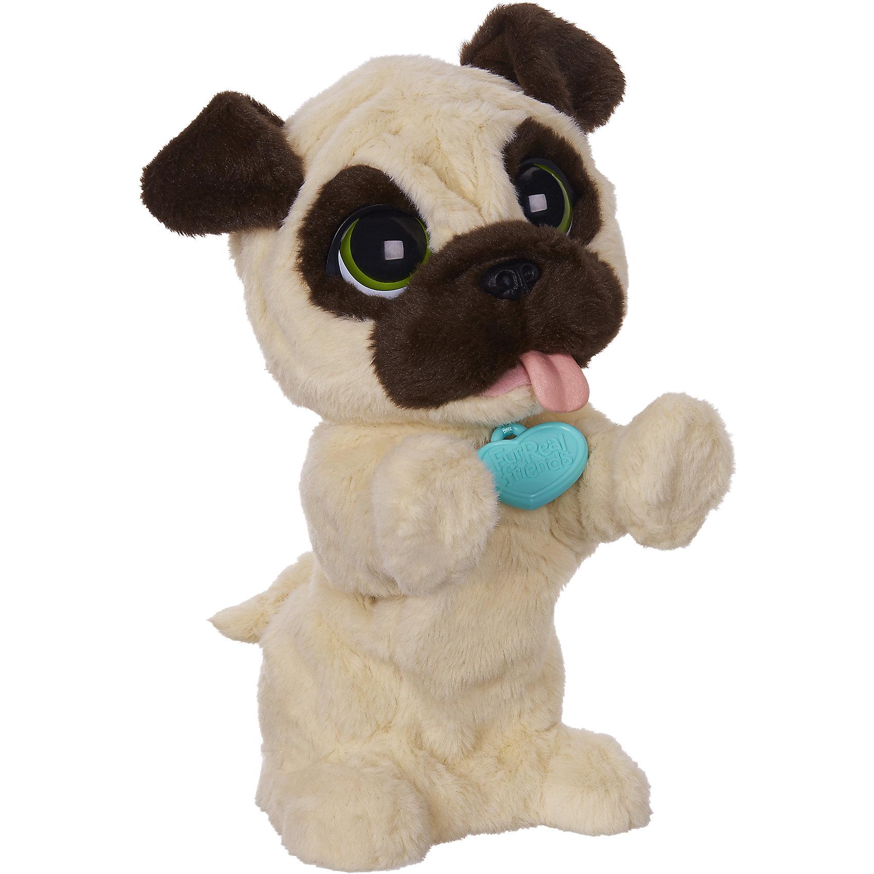 Игривый щенок Джей Джей, FurRealИнтерактивные мягкие игрушки<br>Новый щенок всегда рад тебя видеть. Он встает на задние лапки, прыгает на месте и издает радостные щенячьи звуки.<br><br>Погладьте своего нового маленького друга по голове или помахайте ему рукой, и он подпрыгнет и залает, как настоящий щенок! Погладьте его по спине, и он прилежно сядет. Ваш милый интерактивный Щенок Джей Джей всегда готов играть с вами и будет радостно прыгать каждый раз, когда вы подходите к нему! <br><br>Дополнительная информация:<br>- Интерактивный Игривый Щенок ДжейДжей выглядит и ведет себя, почти как настоящий<br>- Щенок прыгает и лает, если помахать ему рукой или погладить по голове <br>- Щенок садится, если погладить его по спине <br>- Необходимо 4 батарейки АА (в комплекте демонстрационные батарейки).<br><br>Игривого щенка Джей Джей от FurReal Friends можно купить в нашем интернет магазине.<br><br>Ширина мм: 308<br>Глубина мм: 256<br>Высота мм: 208<br>Вес г: 830<br>Возраст от месяцев: 48<br>Возраст до месяцев: 84<br>Пол: Унисекс<br>Возраст: Детский<br>SKU: 4156417
