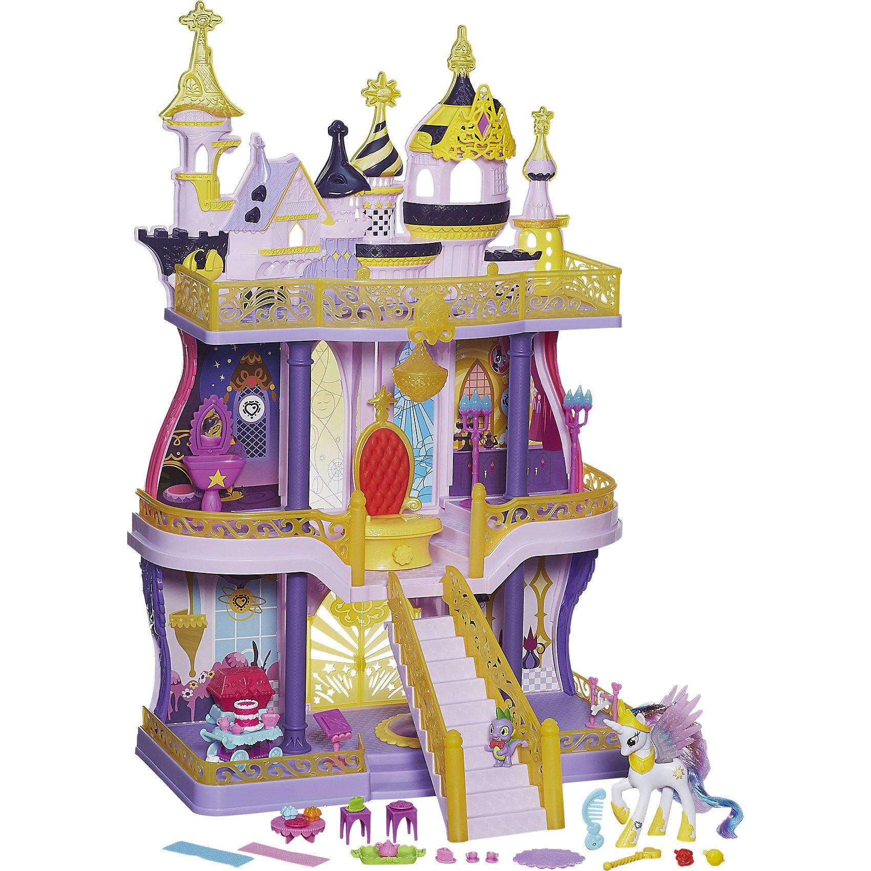 Игровой набор Замок Кантерлот , My little PonyНовый уникальный трехэтажный замок Кантерлот! Теперь ты можешь разыграть волшебные истории из мультсериала «Дружба – это чудо!» с принцессой Селестией в ее замке. В наборе более 50 аксессуаров, которые помогут сделать это. Купол замка украшен диадемой, которую девочка сможет примерить на себя и превратиться в волшебную принцессу.<br><br>Ширина мм: 682<br>Глубина мм: 398<br>Высота мм: 160<br>Вес г: 3365<br>Возраст от месяцев: 36<br>Возраст до месяцев: 60<br>Пол: Женский<br>Возраст: Детский<br>SKU: 4156423