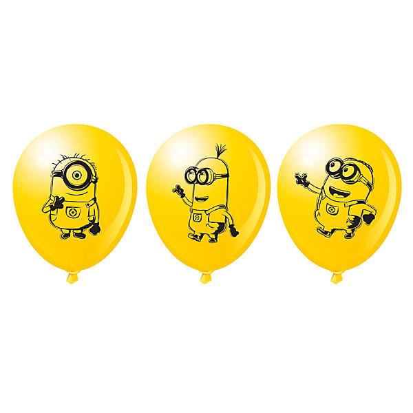 Набор шариков Миньоны (30 см, 10 шт), в ассортиментеМиньоны<br>Шары «Миньоны» яркого солнечного цвета украсят любой праздник, поднимут настроение всем – и детям, и взрослым. А надувание шаров еще и чрезвычайно полезно: такое упражнение развивает дыхательную систему, что благотворно влияет на работу всего организма. &#13;<br><br>Дополнительная информация:<br><br>- Комплектация: 10 шаров.<br>- Материал: латекс.<br>- Цвет: желтый.<br>- Размер: 30 см.<br>- С односторонней печатью<br>-  В ассортименте 3 дизайна. <br>ВНИМАНИЕ! Данный артикул представлен в разных вариантах исполнения. К сожалению, заранее выбрать определенный вариант невозможно. При заказе нескольких наборов шаров возможно получение одинаковых.<br><br>Набор шариков Миньоны (30 см, 10 шт), в ассортименте, можно купить в нашем магазине.<br><br>Ширина мм: 150<br>Глубина мм: 3<br>Высота мм: 190<br>Вес г: 480<br>Возраст от месяцев: 36<br>Возраст до месяцев: 216<br>Пол: Унисекс<br>Возраст: Детский<br>SKU: 4157574