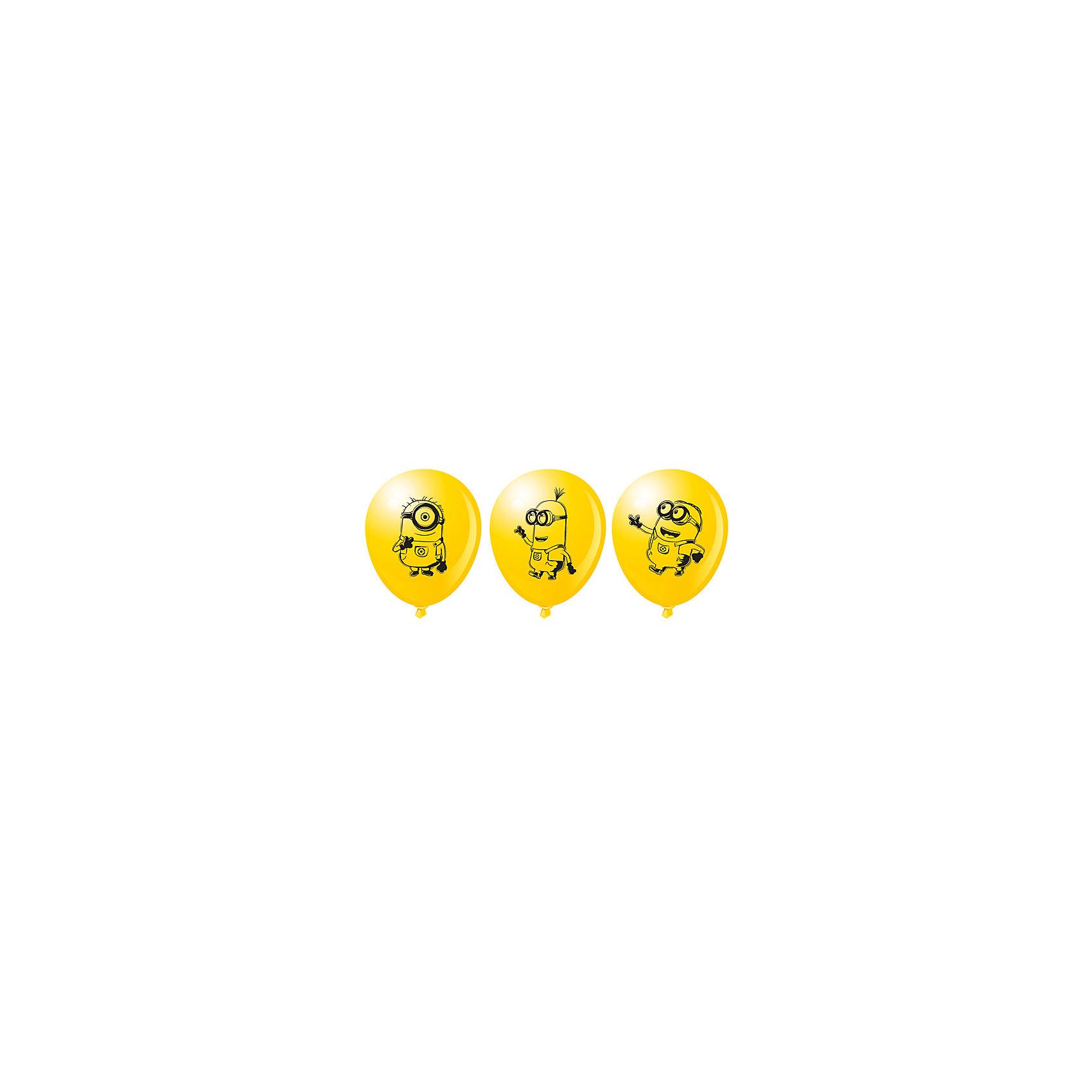 Набор шариков Миньоны (30 см, 10 шт), в ассортиментеШары «Миньоны» яркого солнечного цвета украсят любой праздник, поднимут настроение всем – и детям, и взрослым. А надувание шаров еще и чрезвычайно полезно: такое упражнение развивает дыхательную систему, что благотворно влияет на работу всего организма. &#13;<br><br>Дополнительная информация:<br><br>- Комплектация: 10 шаров.<br>- Материал: латекс.<br>- Цвет: желтый.<br>- Размер: 30 см.<br>- С односторонней печатью<br>-  В ассортименте 3 дизайна. <br>ВНИМАНИЕ! Данный артикул представлен в разных вариантах исполнения. К сожалению, заранее выбрать определенный вариант невозможно. При заказе нескольких наборов шаров возможно получение одинаковых.<br><br>Набор шариков Миньоны (30 см, 10 шт), в ассортименте, можно купить в нашем магазине.<br><br>Ширина мм: 150<br>Глубина мм: 3<br>Высота мм: 190<br>Вес г: 480<br>Возраст от месяцев: 36<br>Возраст до месяцев: 216<br>Пол: Унисекс<br>Возраст: Детский<br>SKU: 4157574
